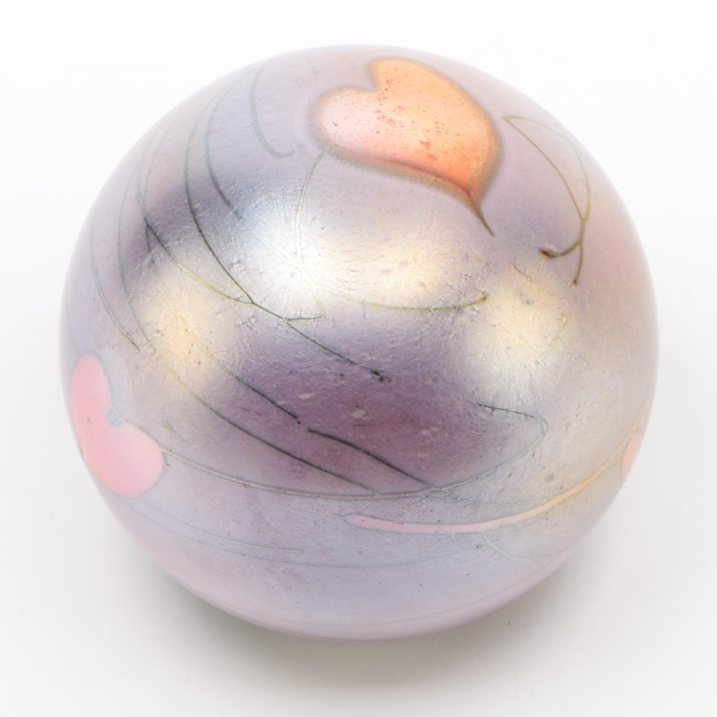 Blown Glass Paperweight, 1996