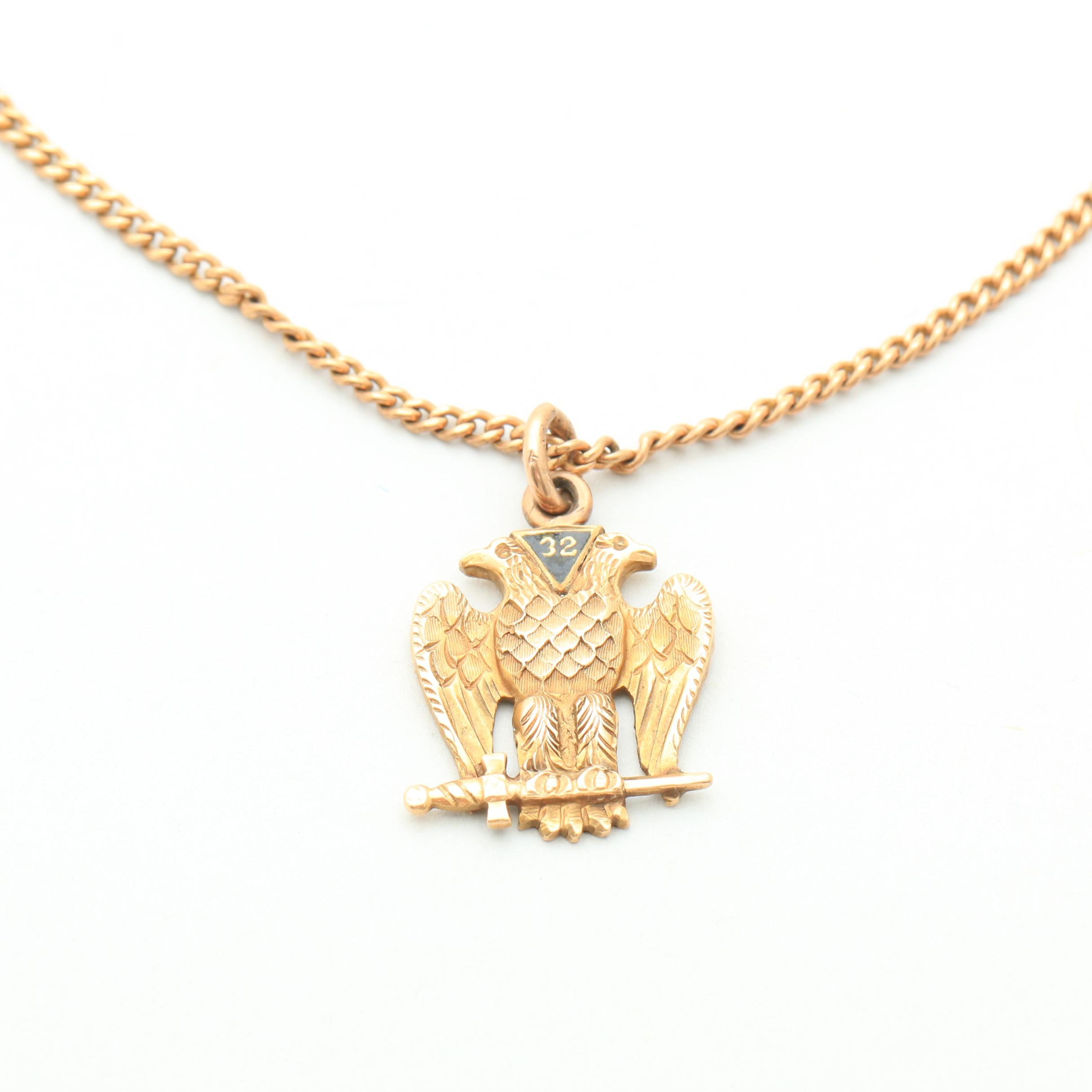 10K Yellow Gold Watch Fob