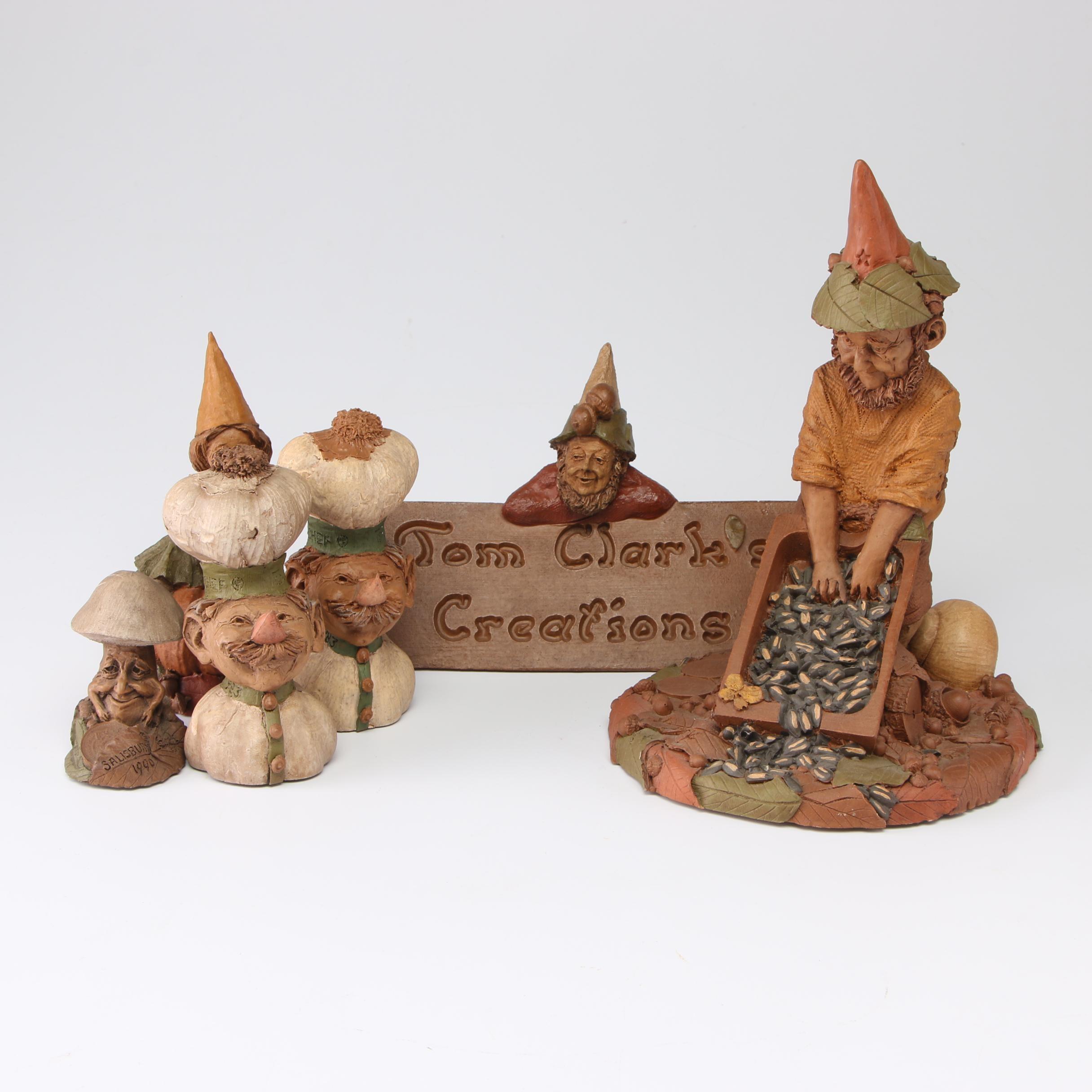 Tom Clark Gnome Pecan Resin Figurines