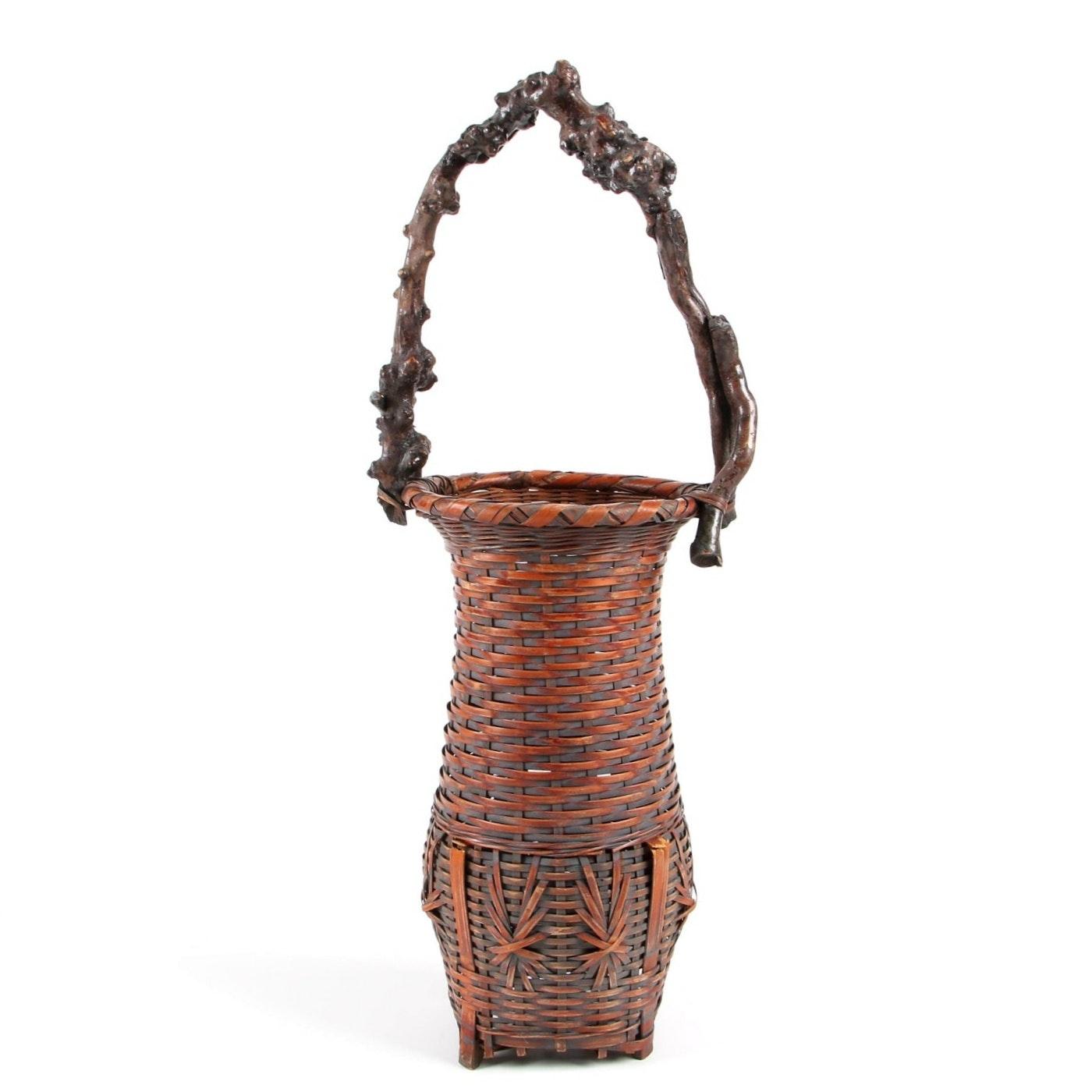 Japanese Ikebana Bamboo Basket