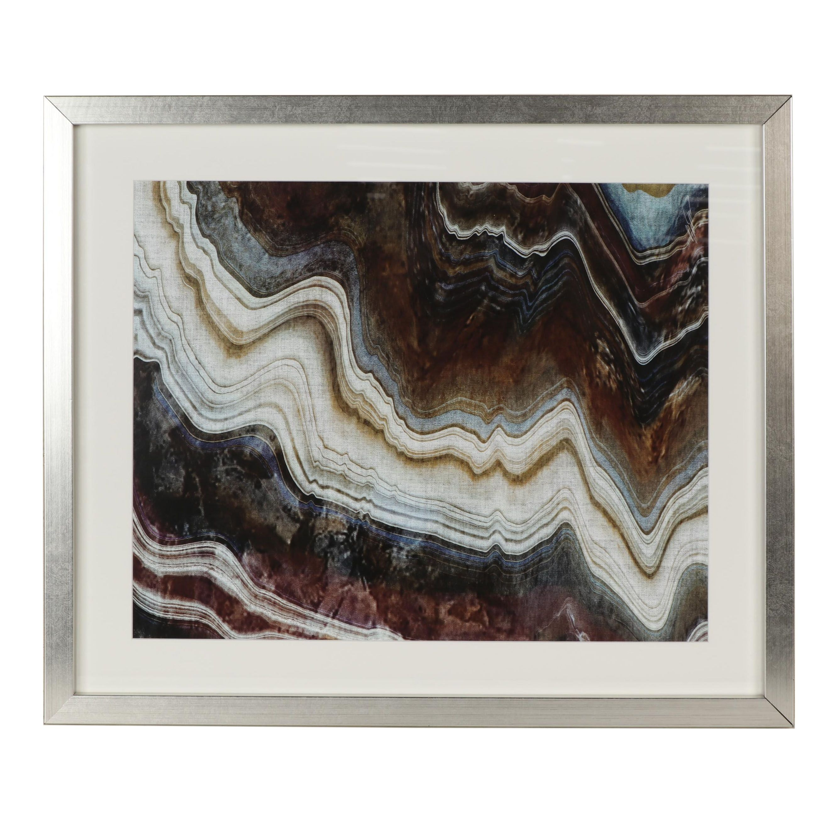 Contemporary Agate Slice Giclee
