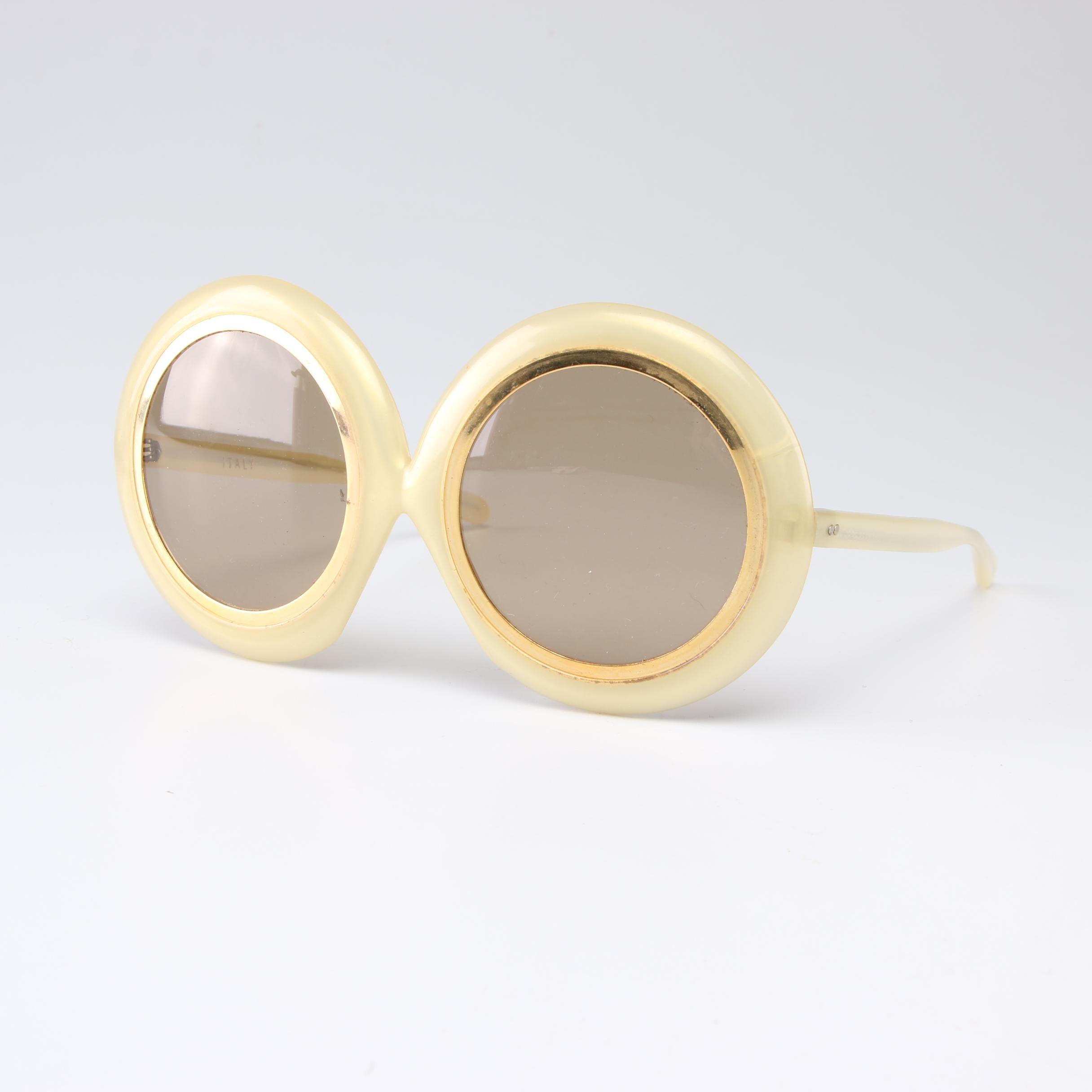 Italian Round Sunglasses, 1960s Vintage