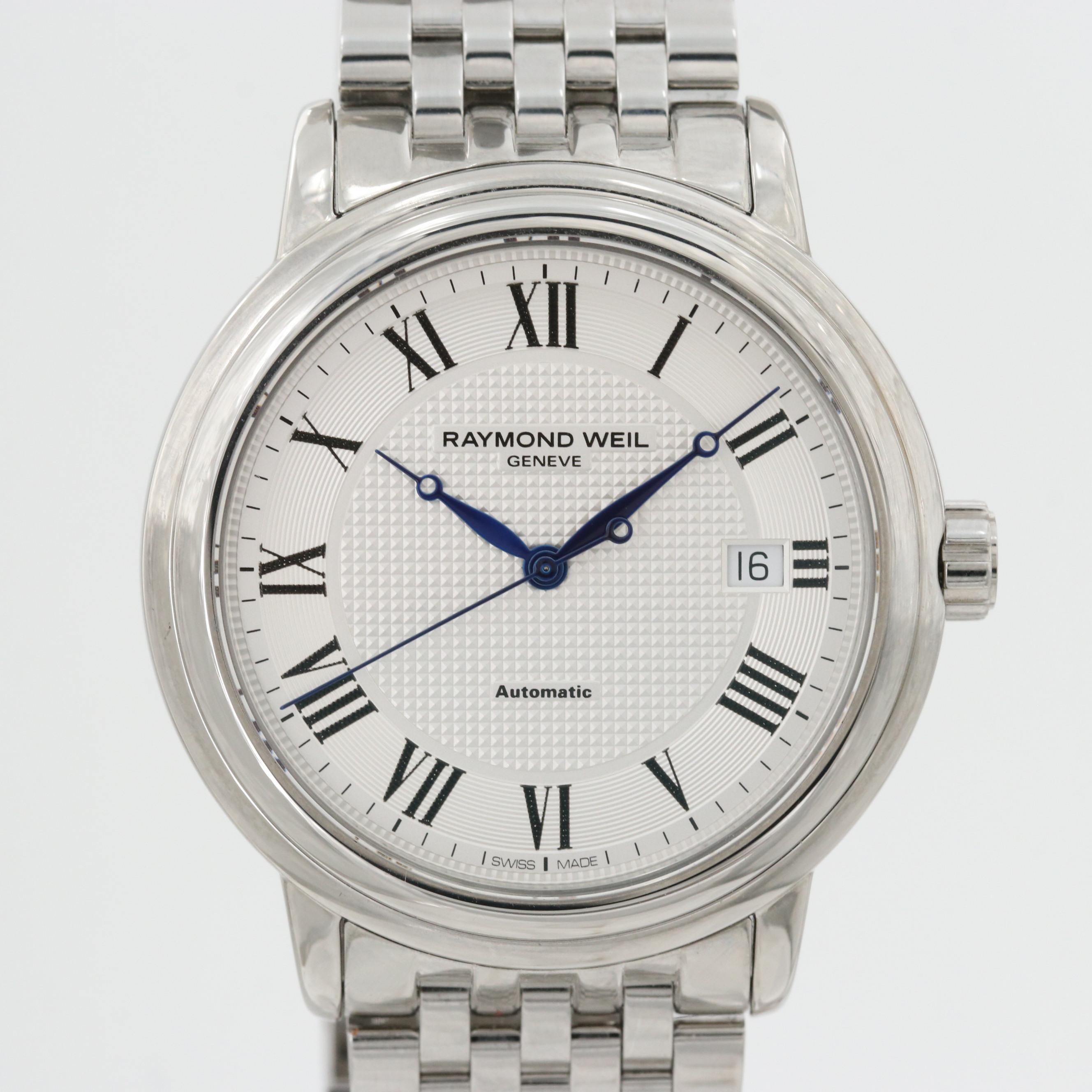 "Raymond Weil ""Maestro"" Stainless Steel Automatic Wristwatch With Date Window"