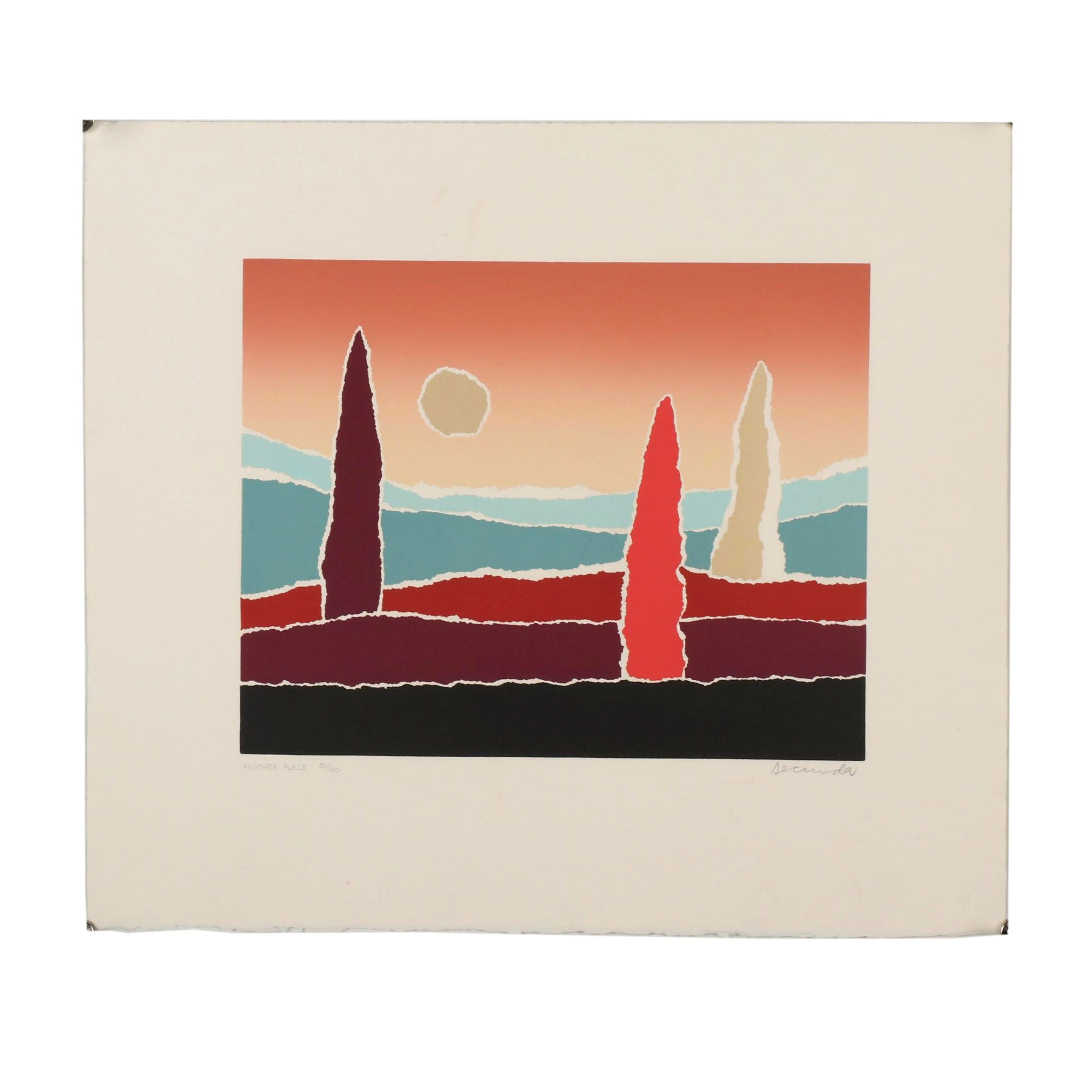 "Arthur Secunda Serigraph ""Another Place"""