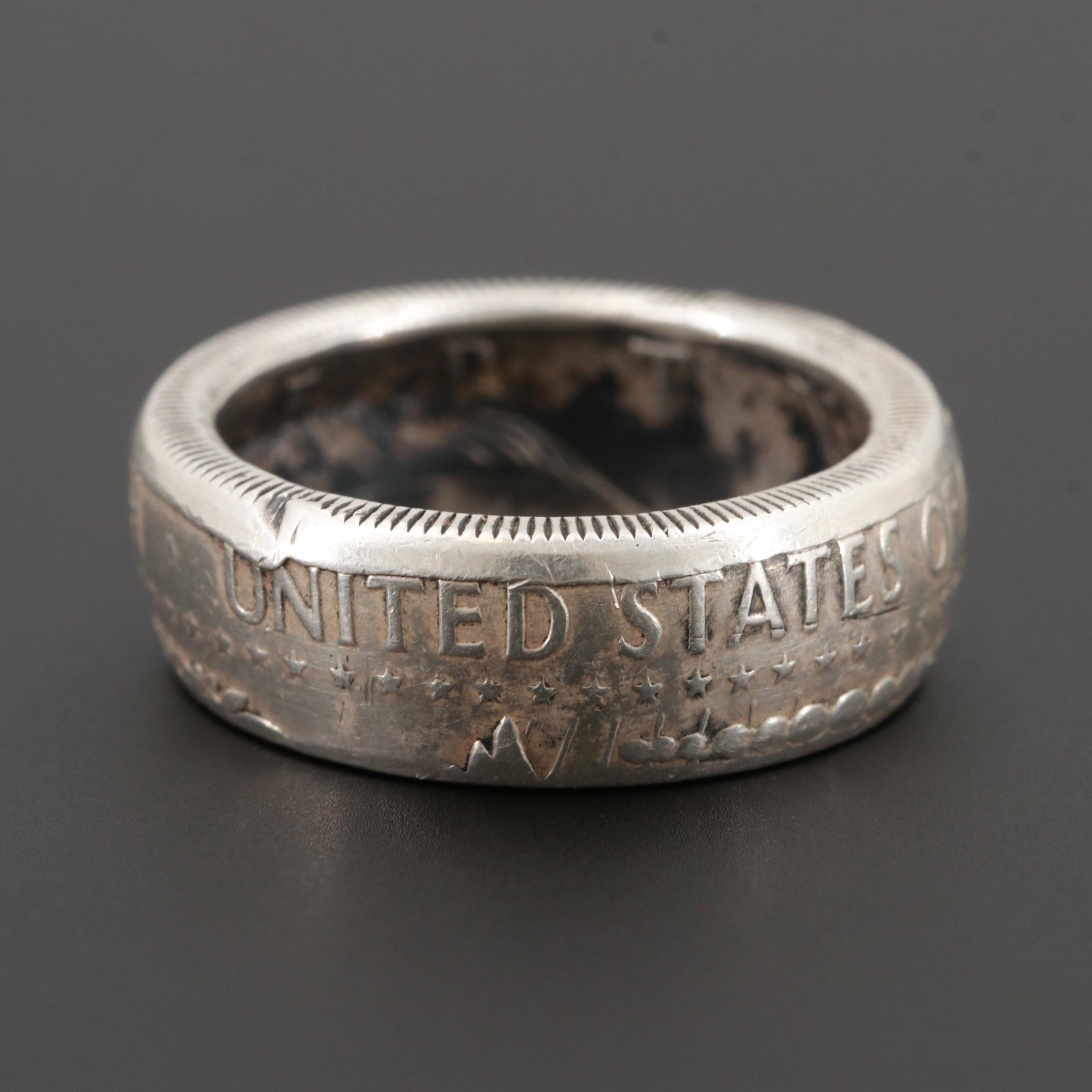 "900 Silver United State of America Half Dollar ""Liberty 1964"" Ring"