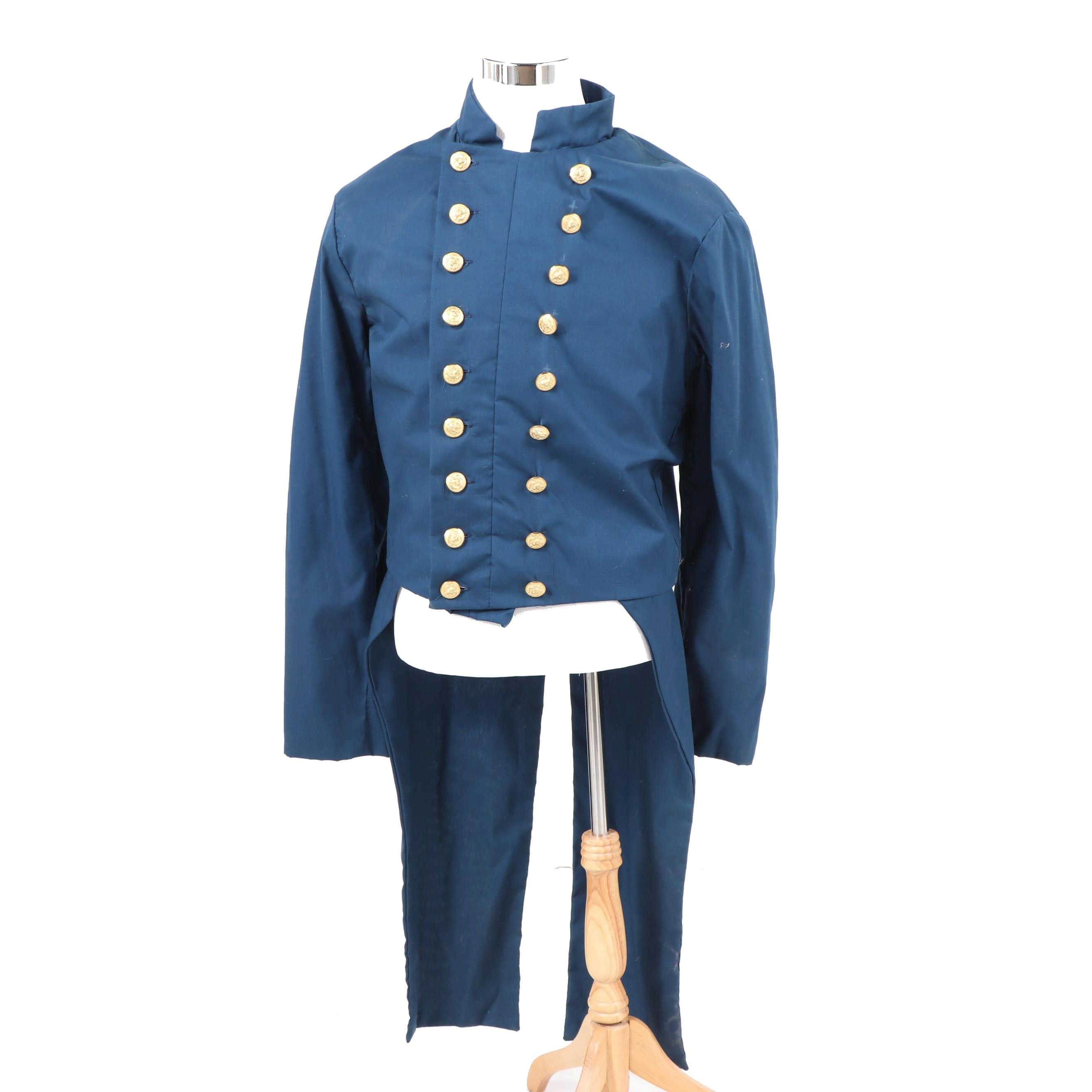 Reproduction Civil War US Navy Officer's Double-Breasted Swallow-Tail Coat