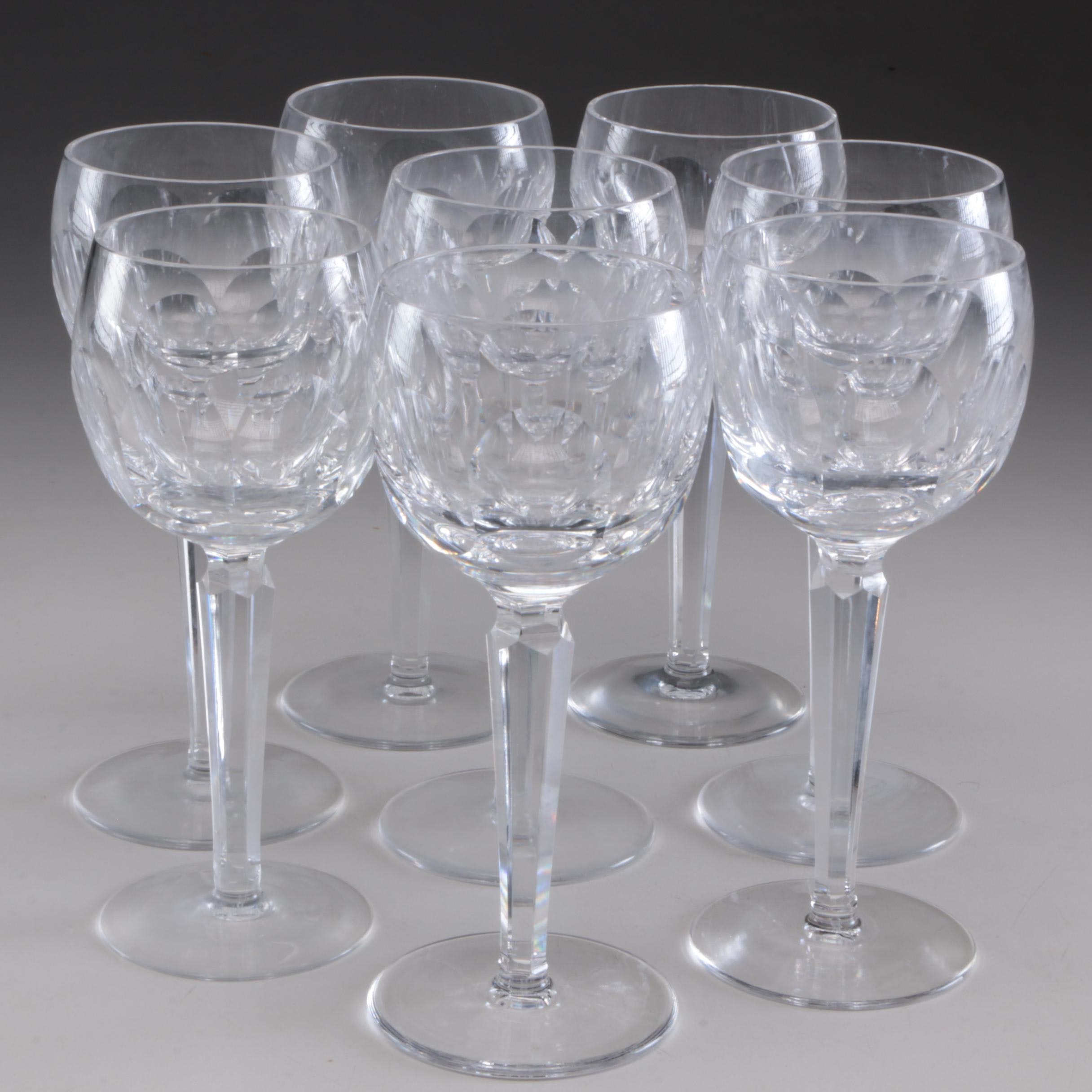 "Waterford Crystal ""Shelia"" Wine Hocks, Late 20th Century"