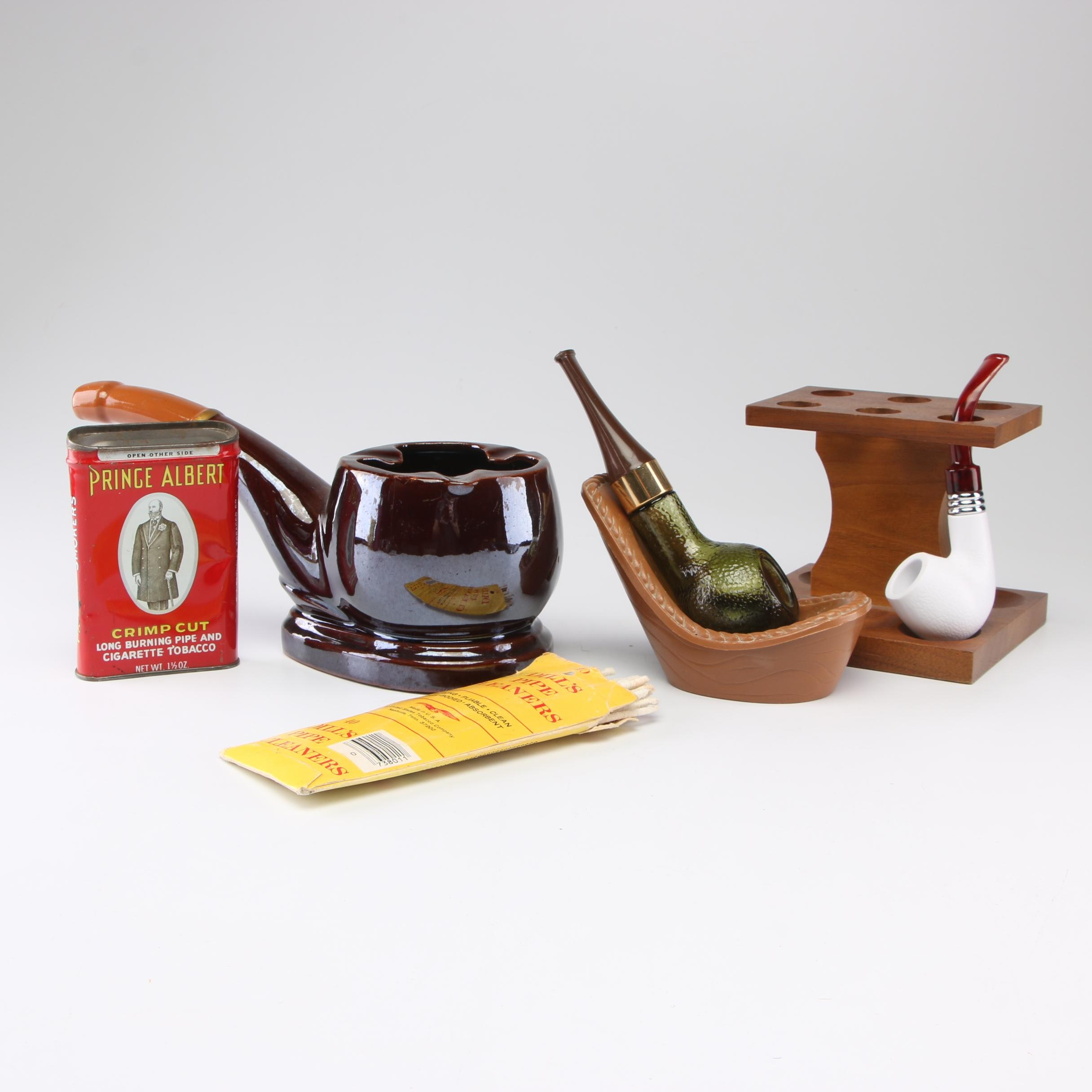 Pipe Ashtray, Holder and Other Tobacciana
