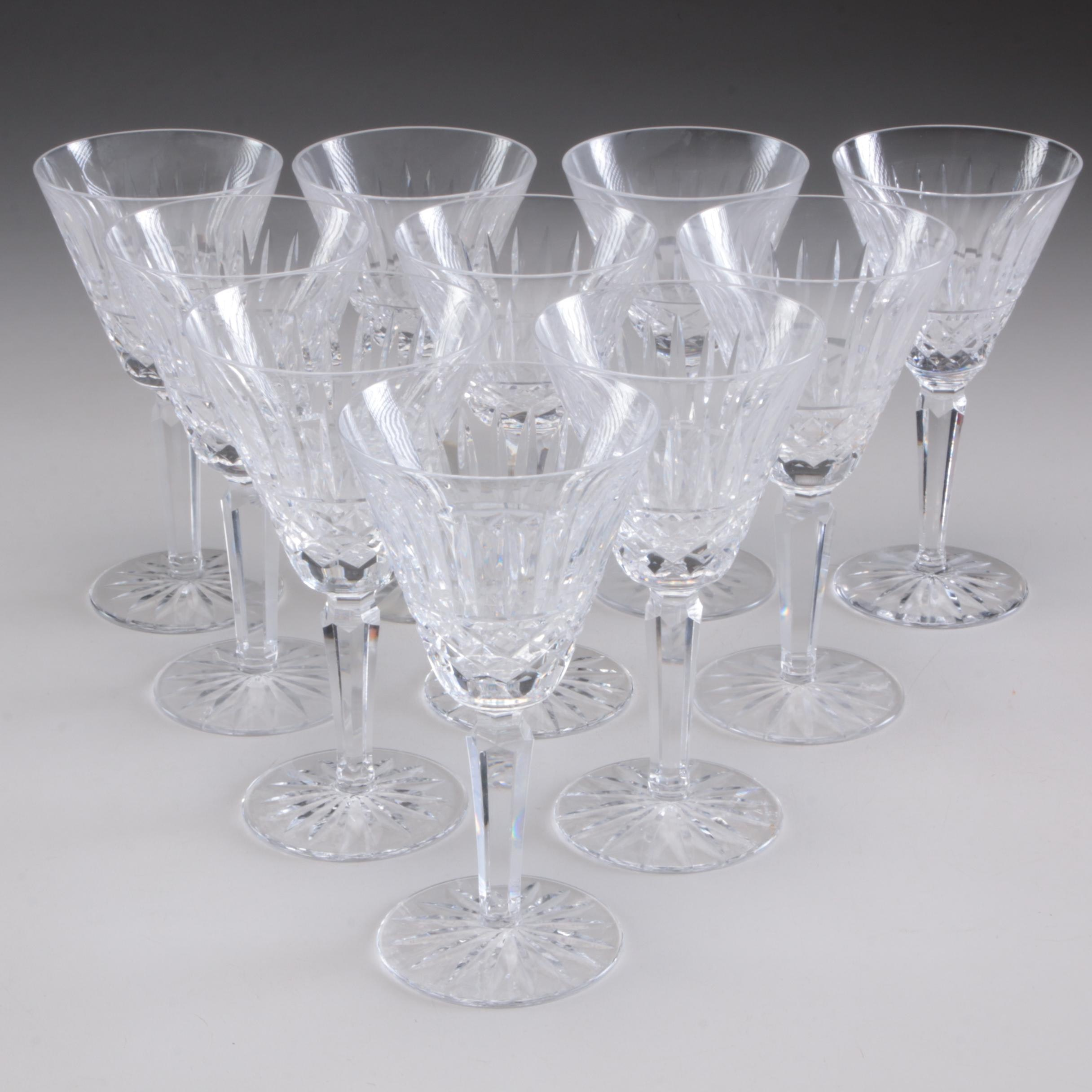 """Waterford Crystal """"Maeve"""" White Wine Glasses, Late 20th Century"""
