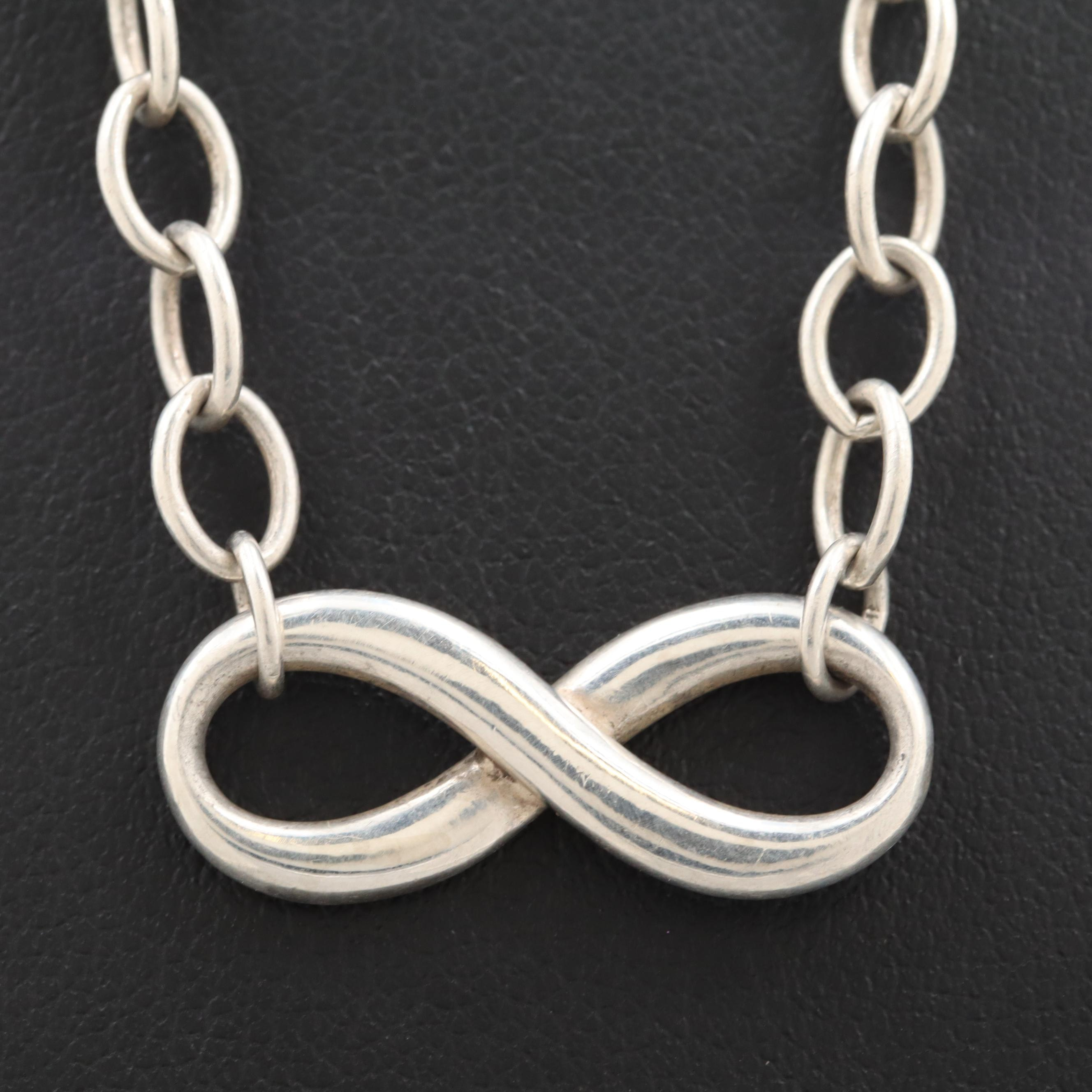 "Tiffany & Co. Sterling Silver ""Infinity Collection"" Necklace"