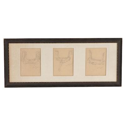 Edward Borein Graphite Sketches