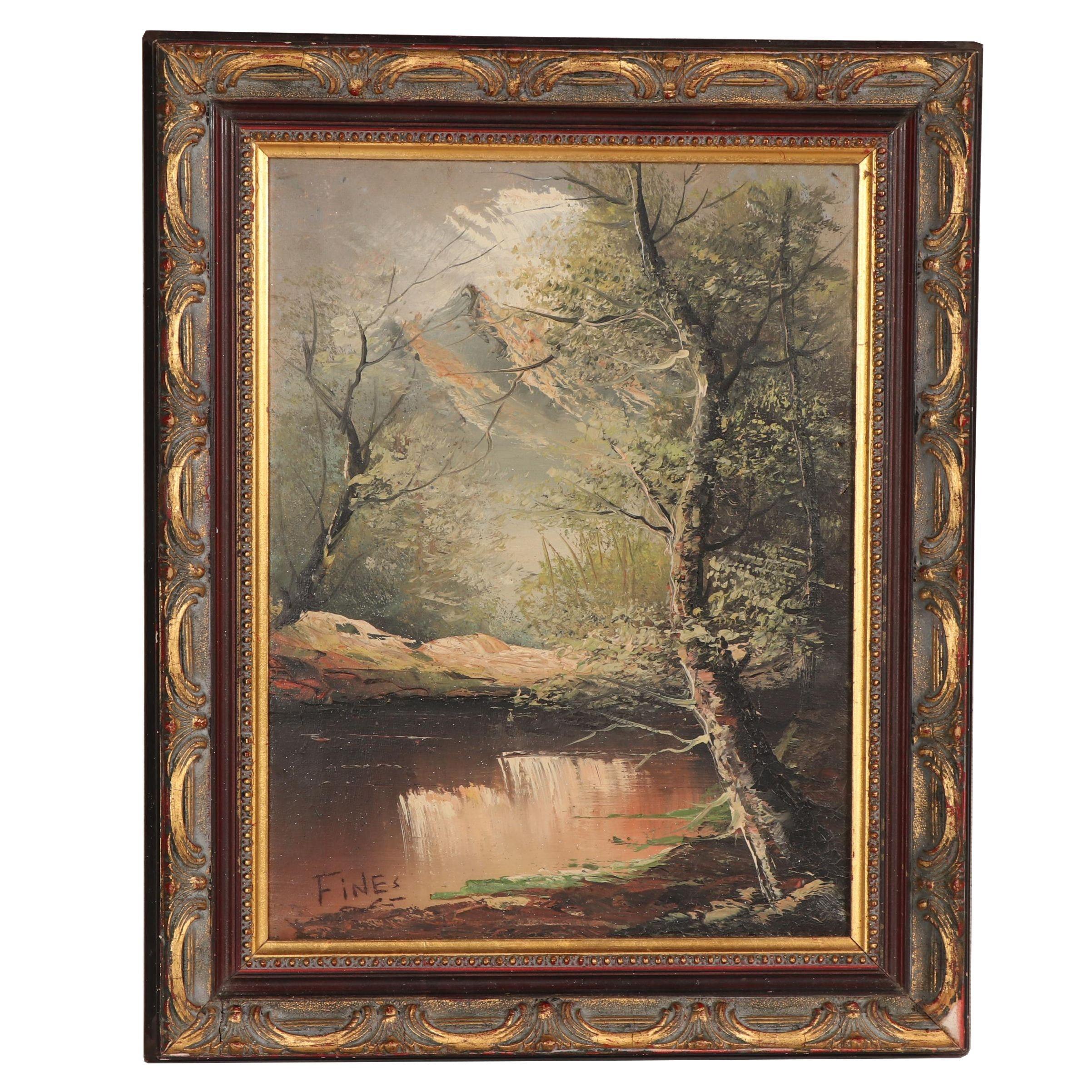 Scenic Landscape Oil Painting
