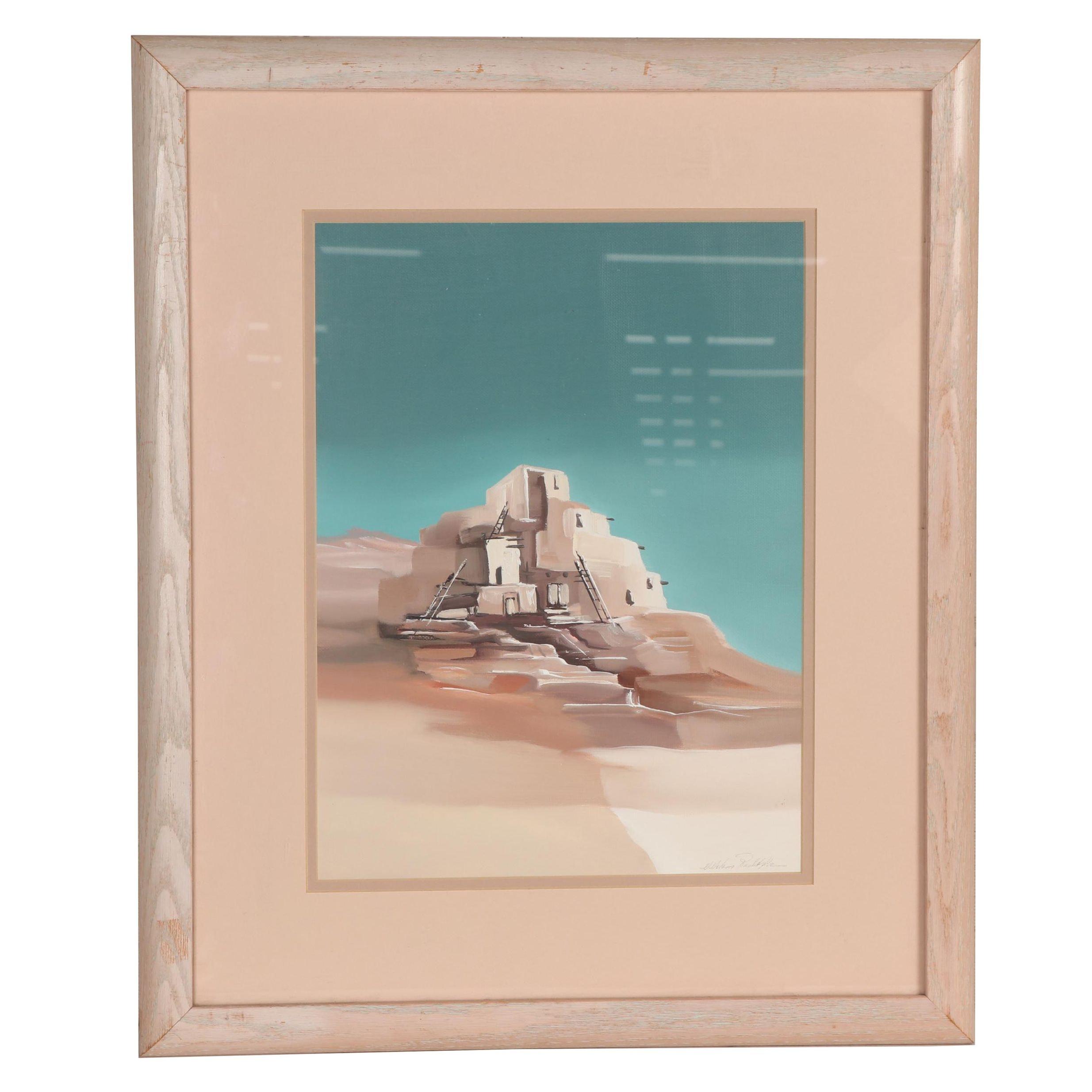 Adobe Architecture Acrylic Painting