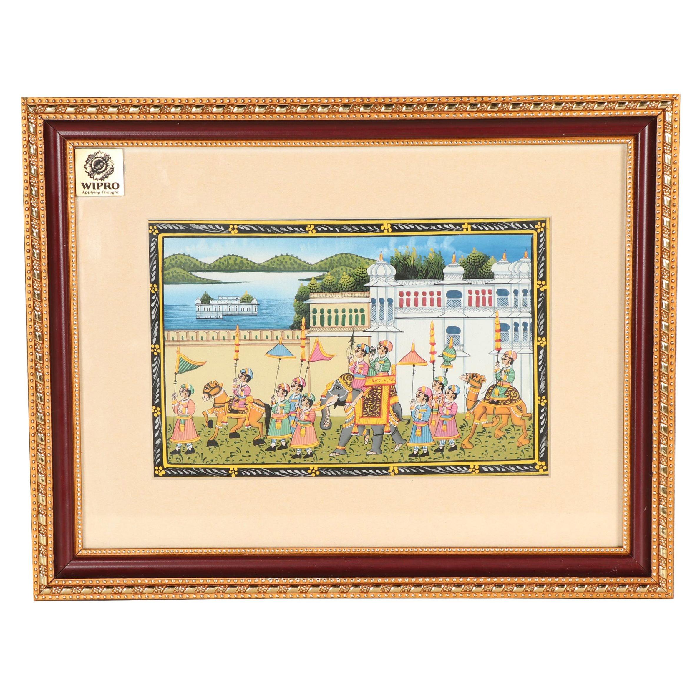 Indo-Perisan Gouache Painting on Silk