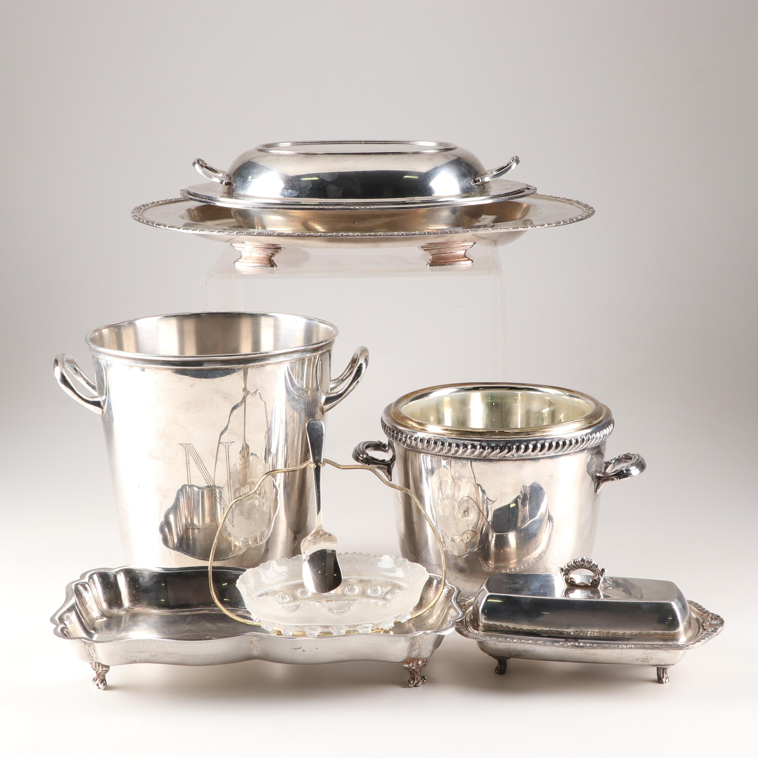 Silver Plate Tableware Grouping Featuring Wm Rogers and Randolph