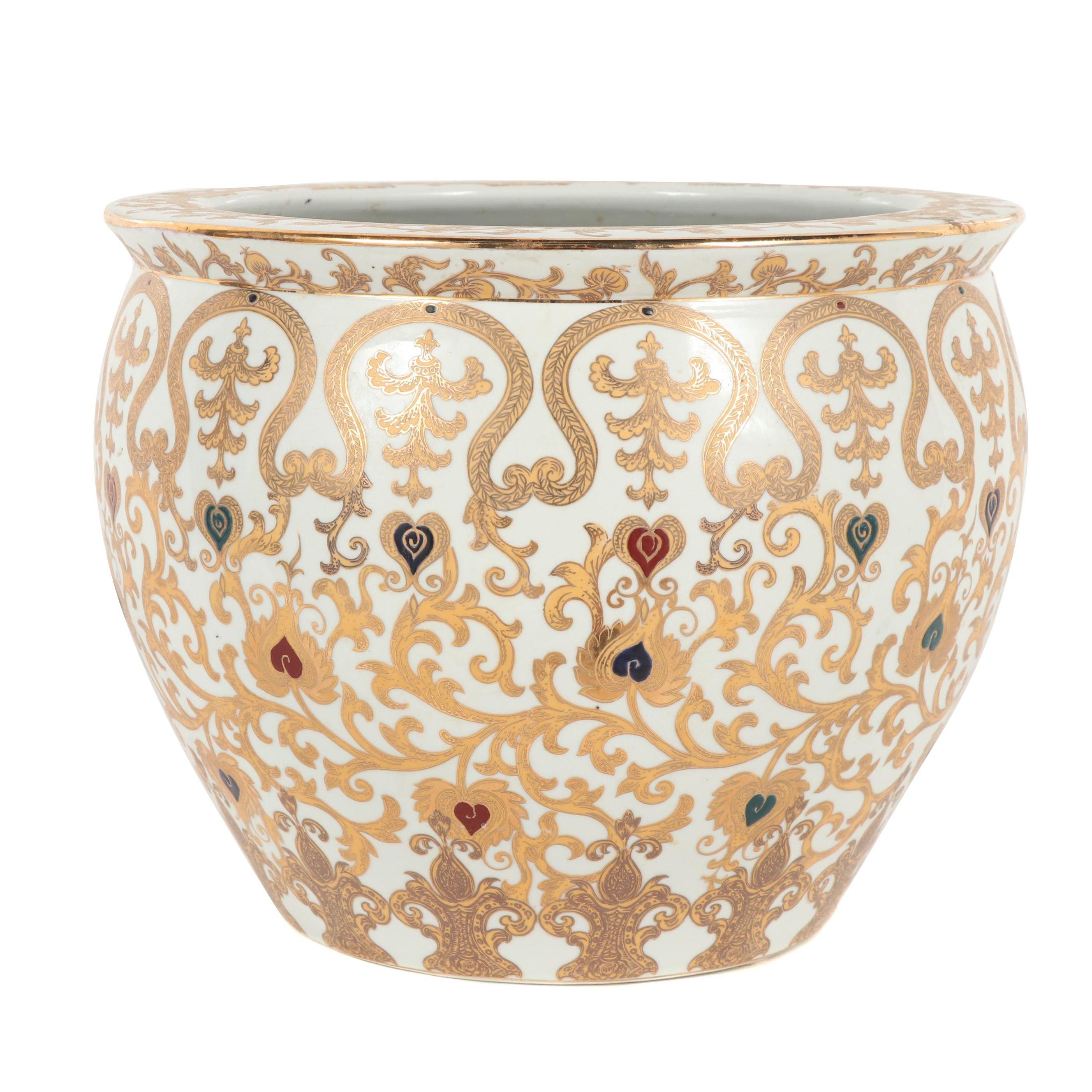 Oriental Accents Asian Ceramic Planter