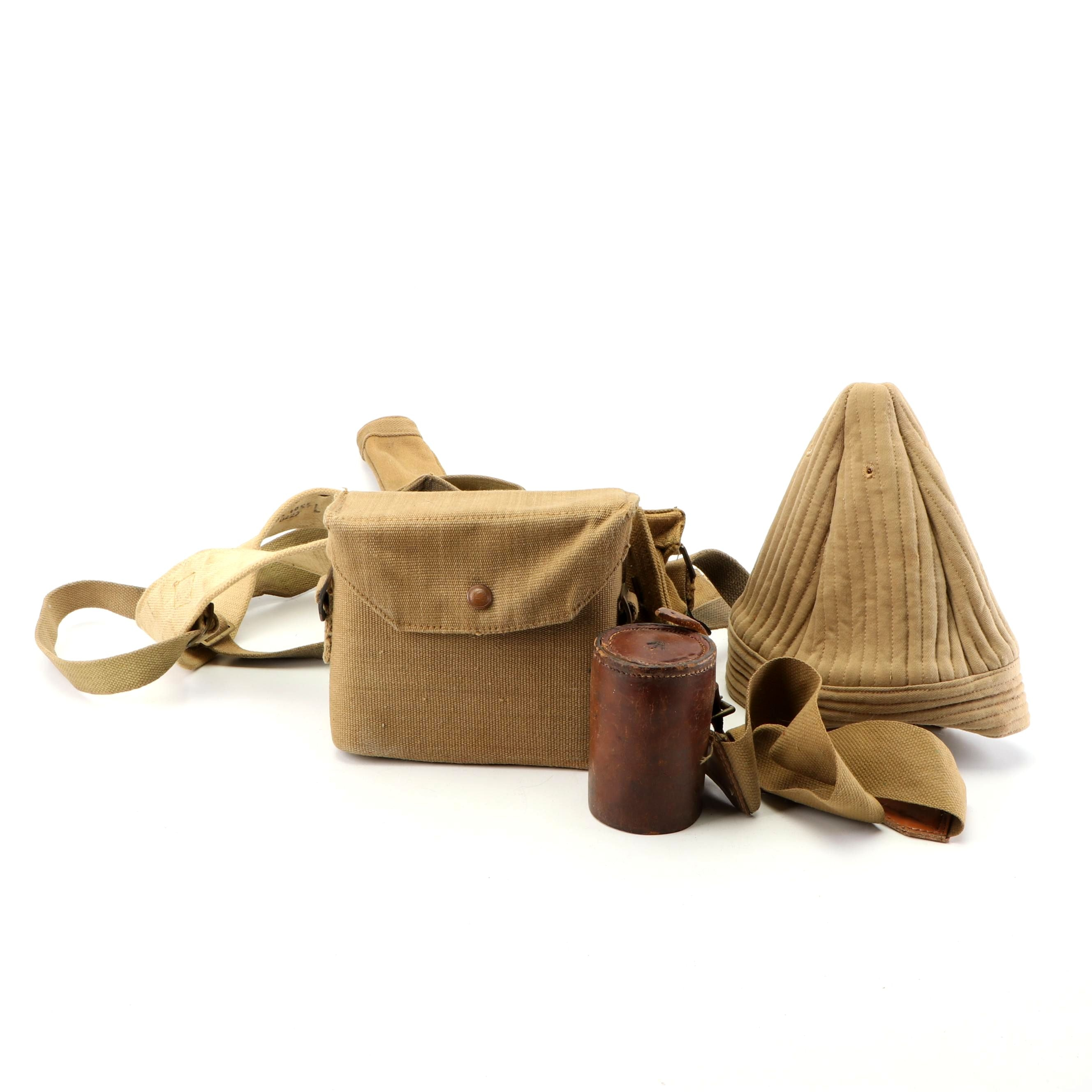 Southerner Military Field Binoculars with Belt, Case and Quilted Hat