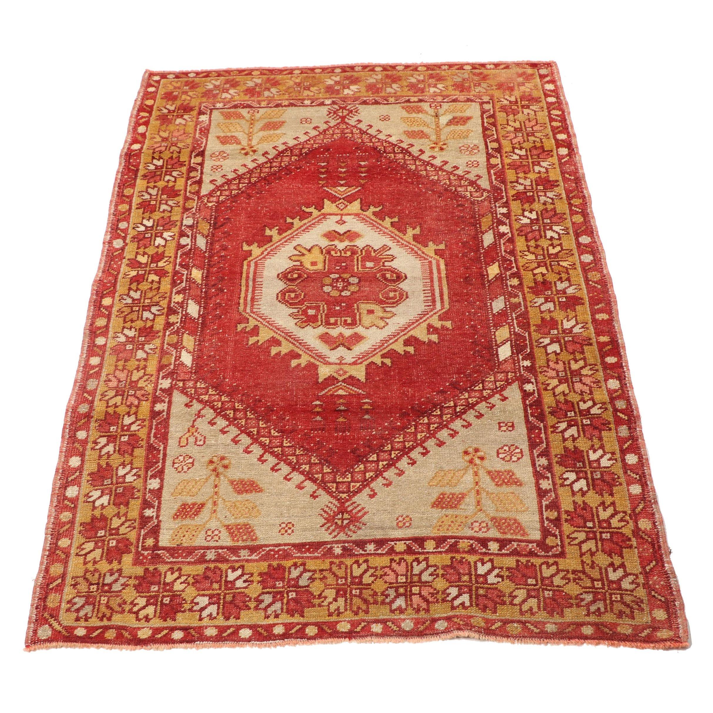 Hand-Knotted Anatolian Kula Wool Rug