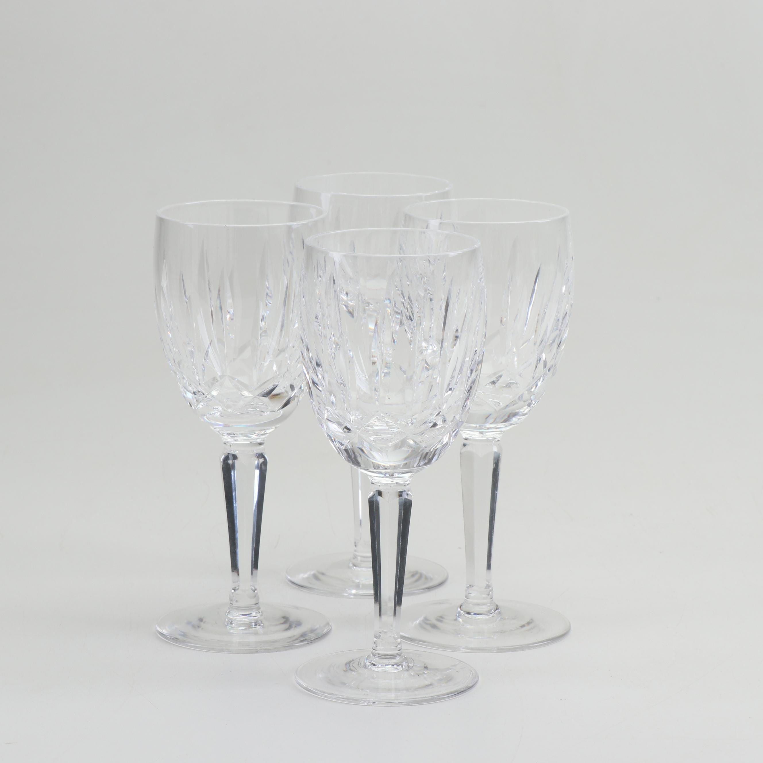 "Waterford ""Kildare"" Crystal Goblets, Group of 4"