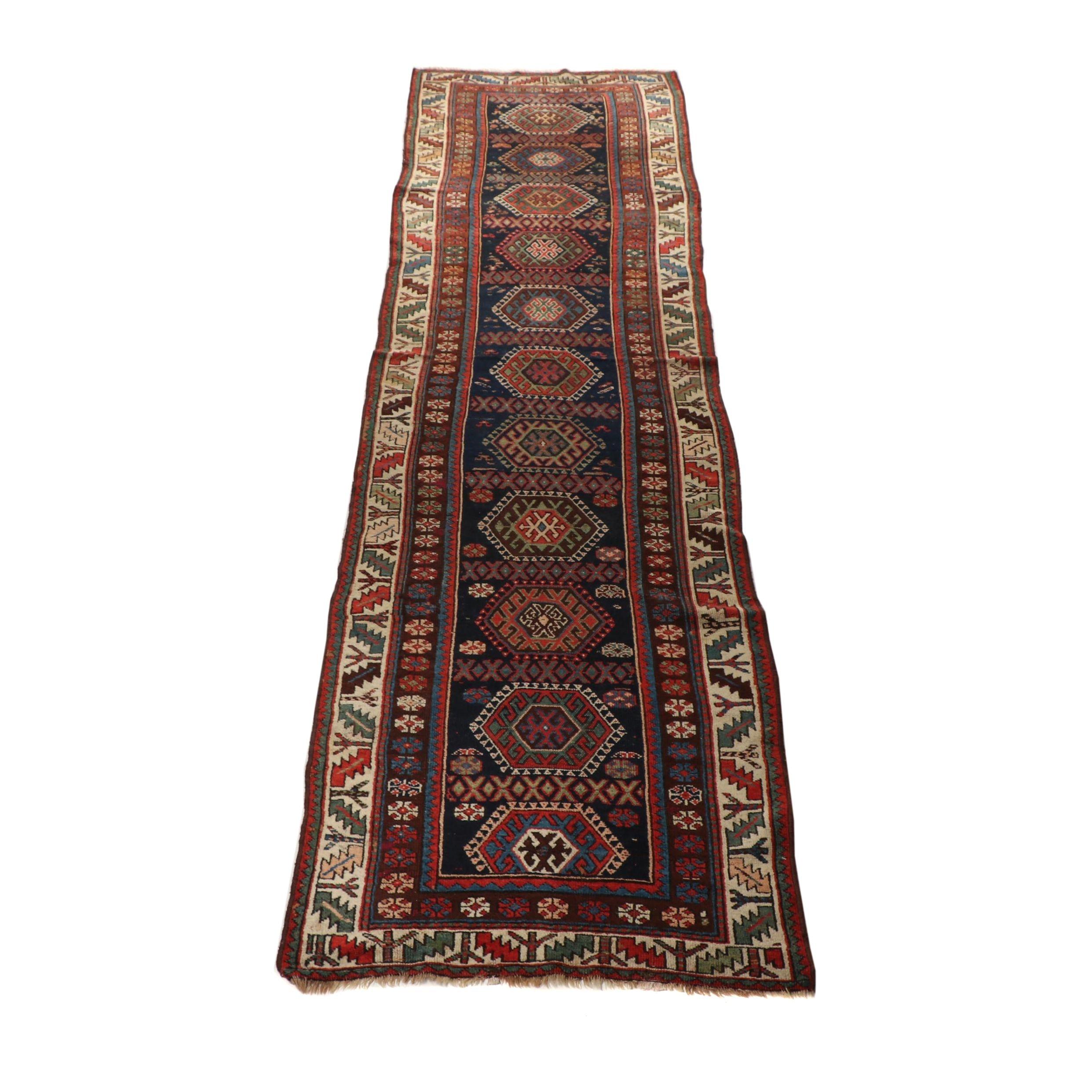 Hand-Knotted Iraqi Wool Carpet Runner
