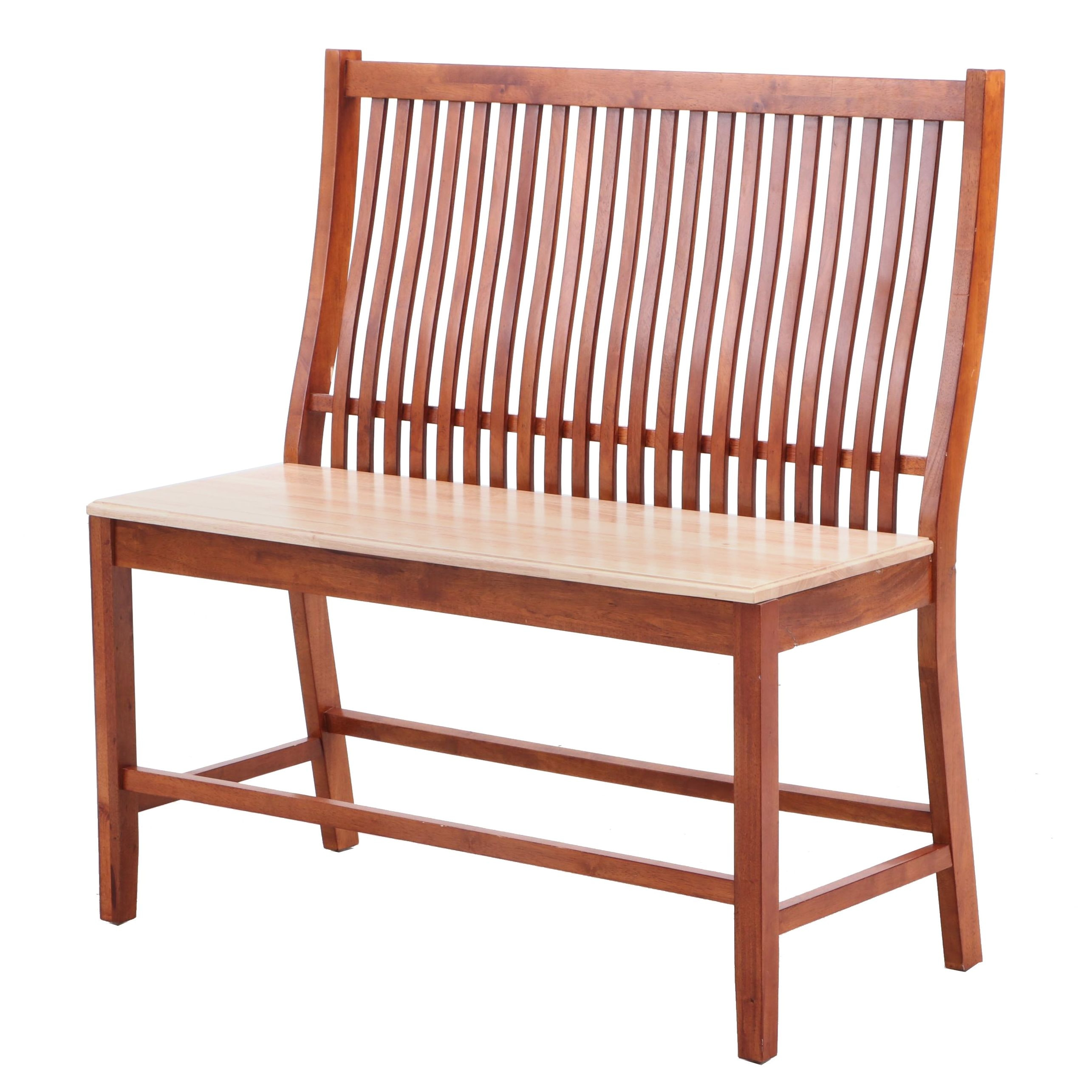 Arts and Crafts Style Alder Bench, Contemporary