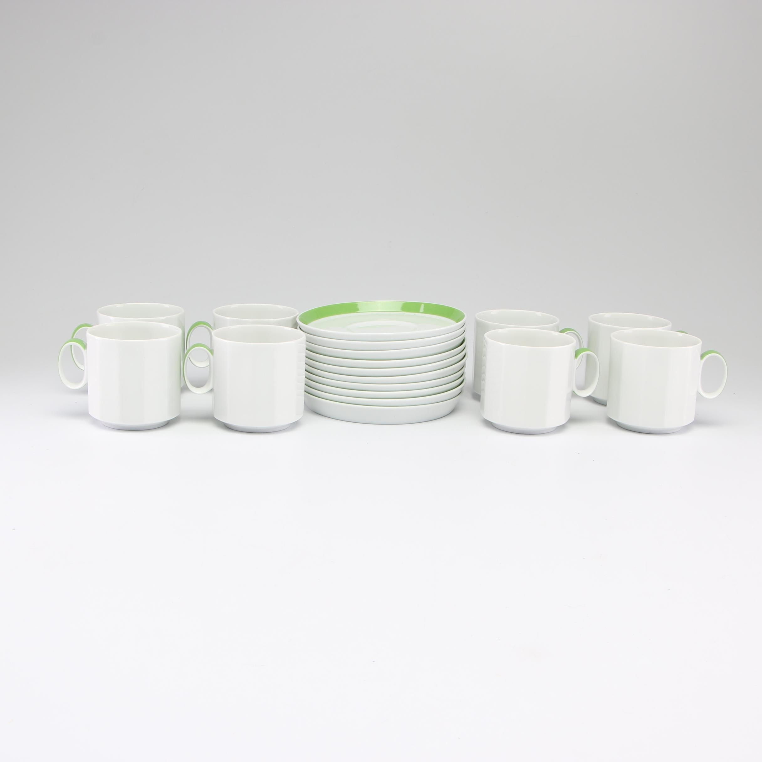 Rosenthal Studio-Linie Tapio Wirkkala Tea Cups and Saucers Service of Eight