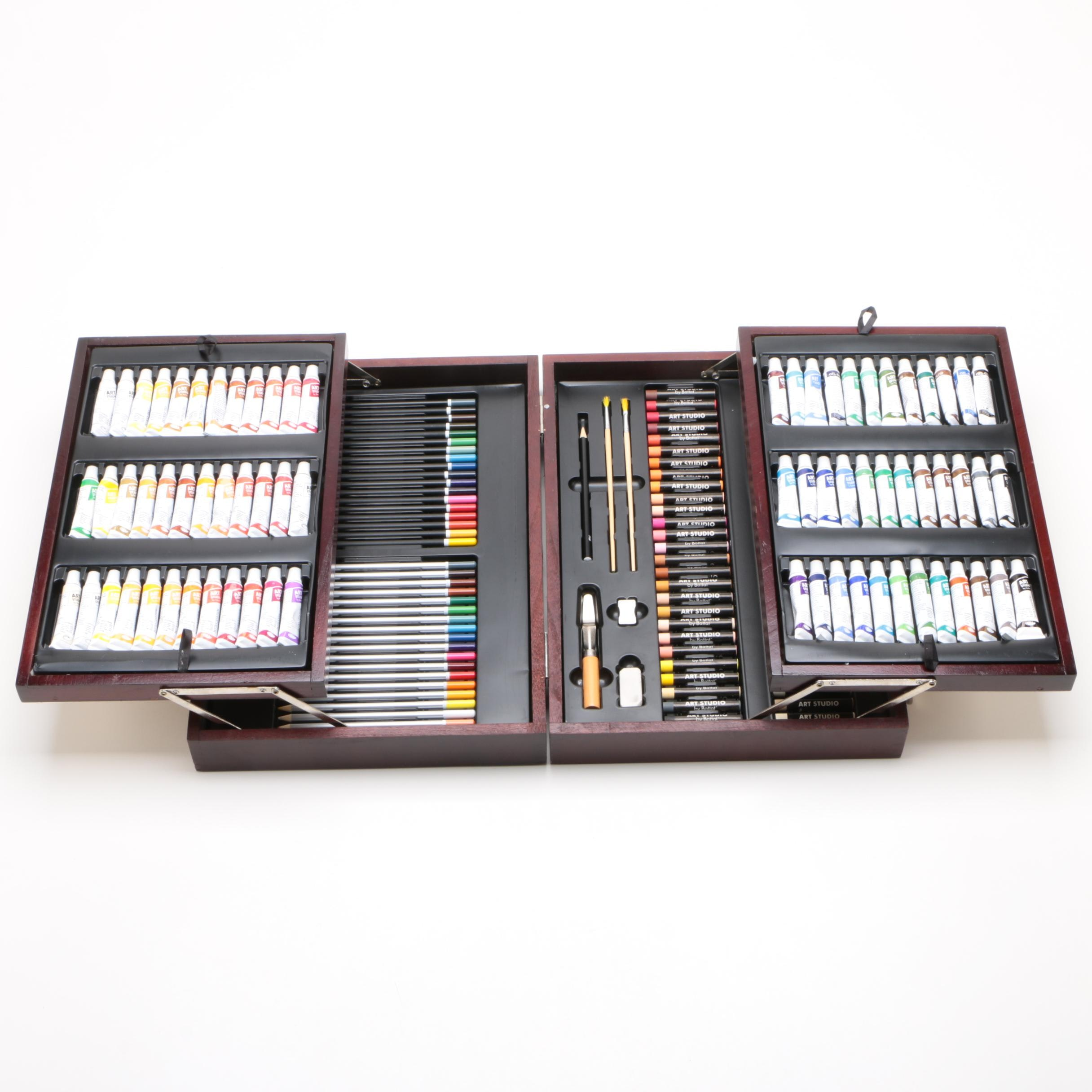 150 Piece Art Studio Painting and Drawing Set by Battat