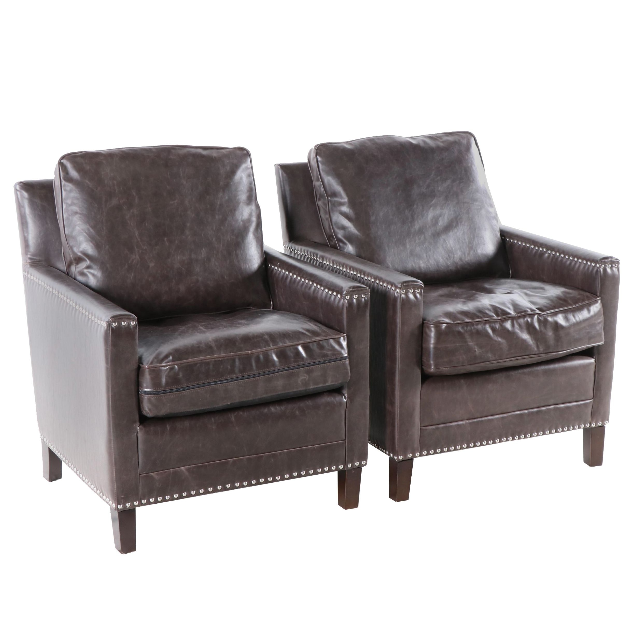 Contemporary Faux Leather Chairs