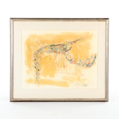 Hoi Lebadang Crustacean Mixed Media Painting