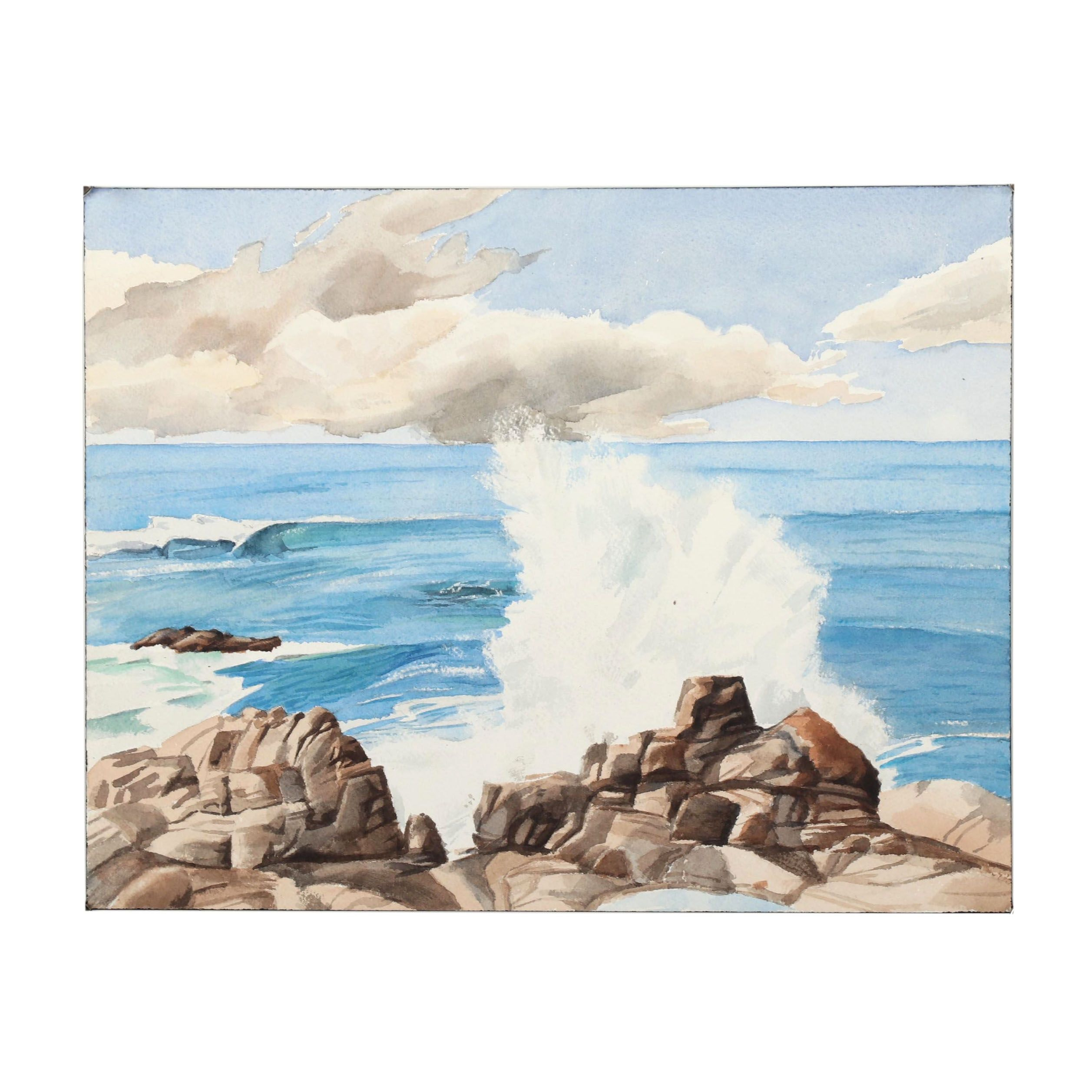 21st Century Oceanic Watercolor Painting