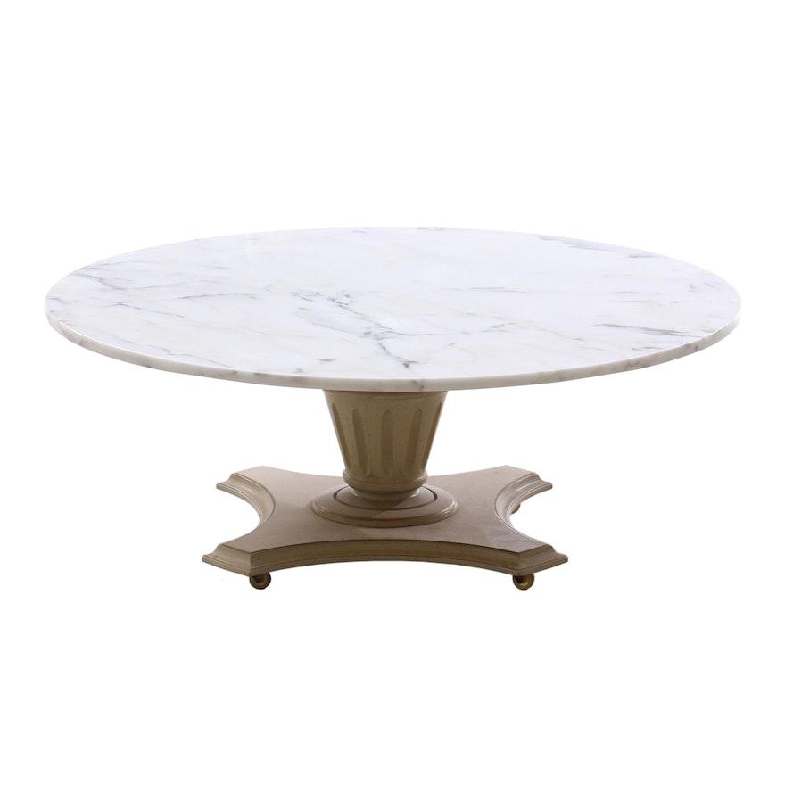 Italian Style Marble Top Coffee Table, Circa 1960s