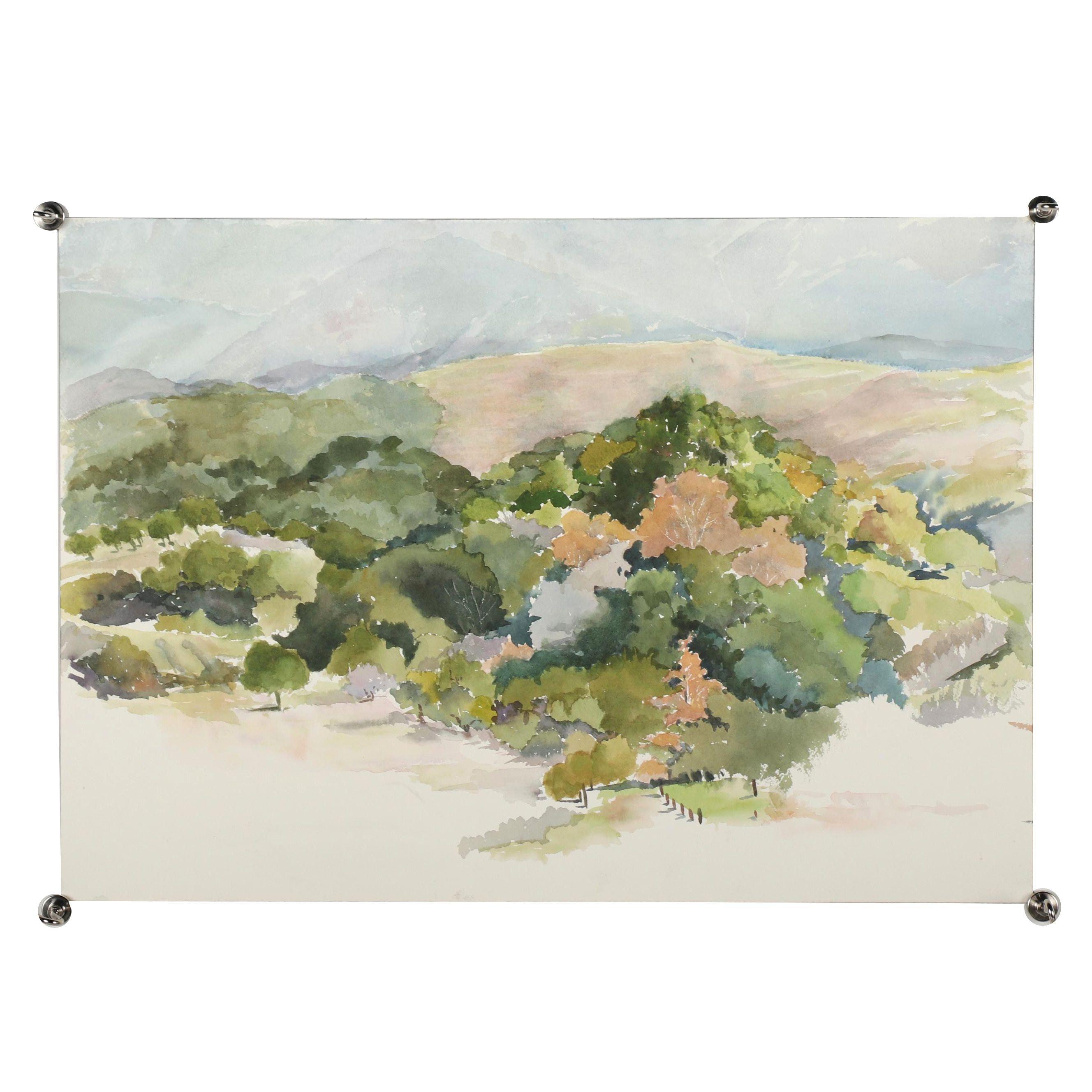 21st Century Landscape Watercolor Painting