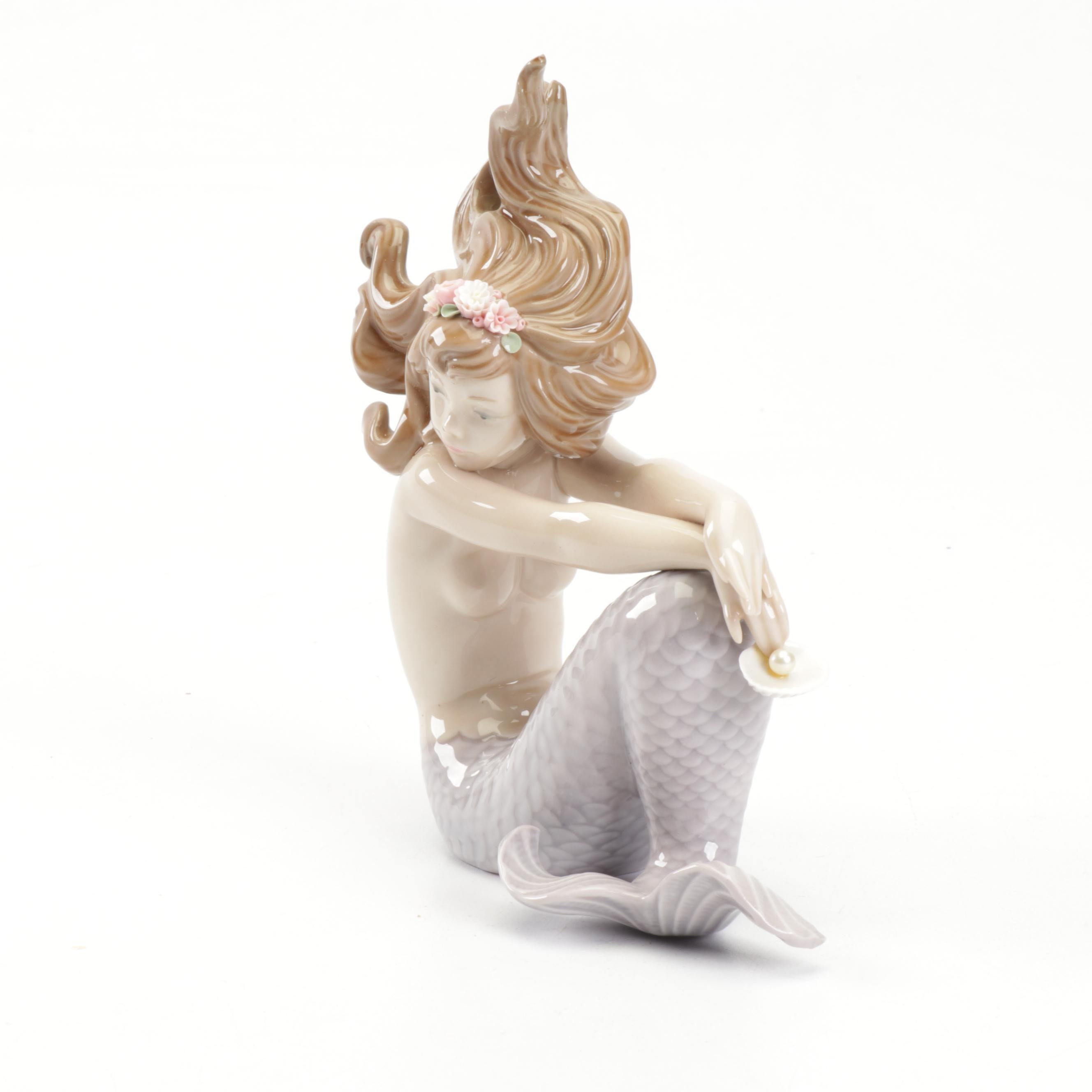 Lladró Porcelain Mermaid Figurine, 1980s