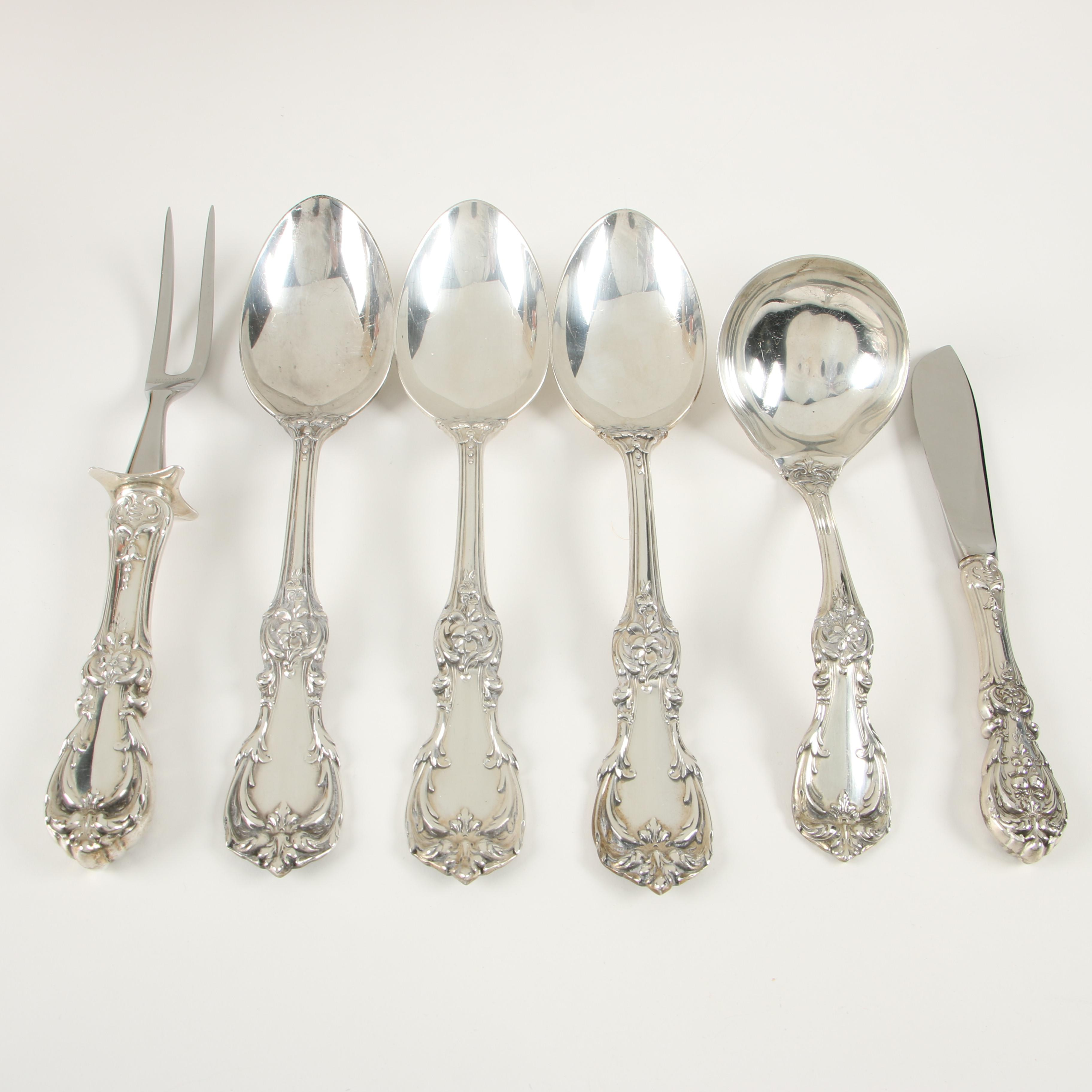 "Reed & Barton ""Burgundy"" Sterling Silver Flatware, Mid-Century"