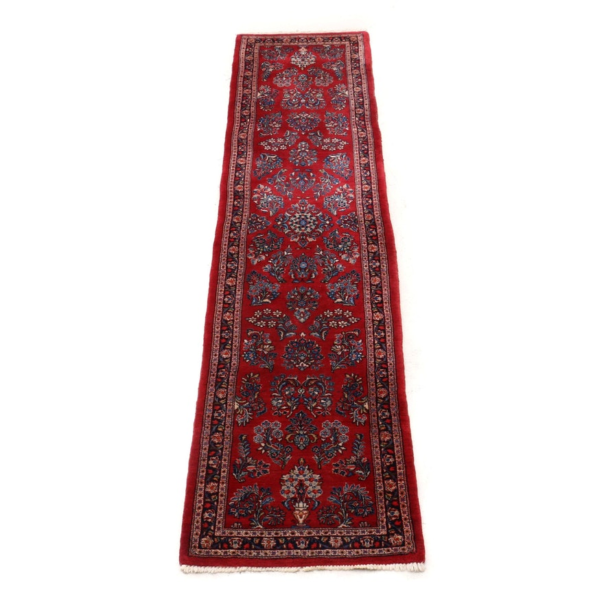 Hand-Knotted Persian Mahallat Wool Rug