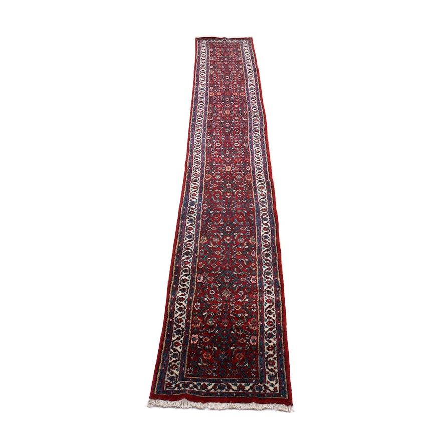 Hand-Knotted Persian Darjazine Wool Rug