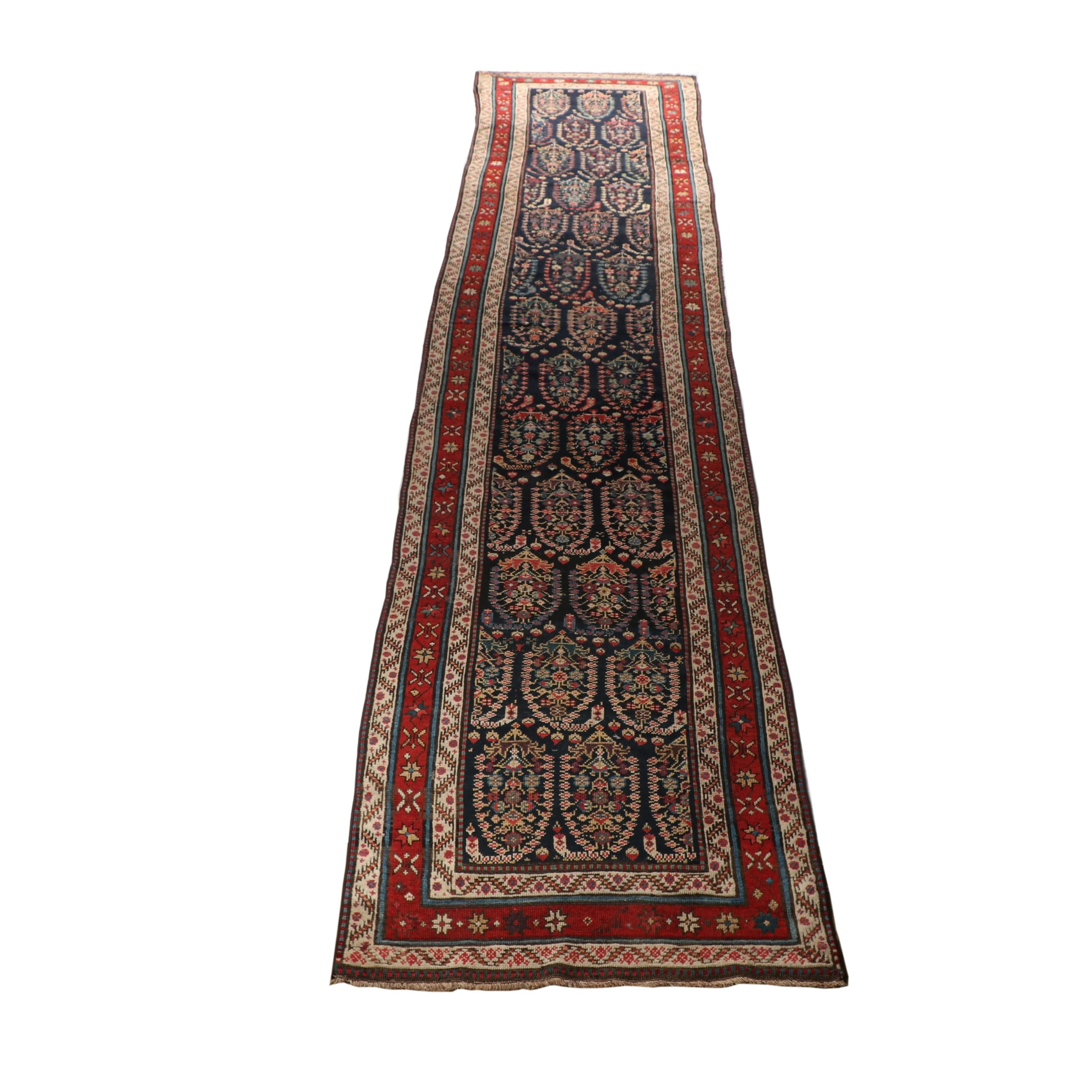 Hand-Knotted Russian Mir Boteh Wool Palace Carpet Runner