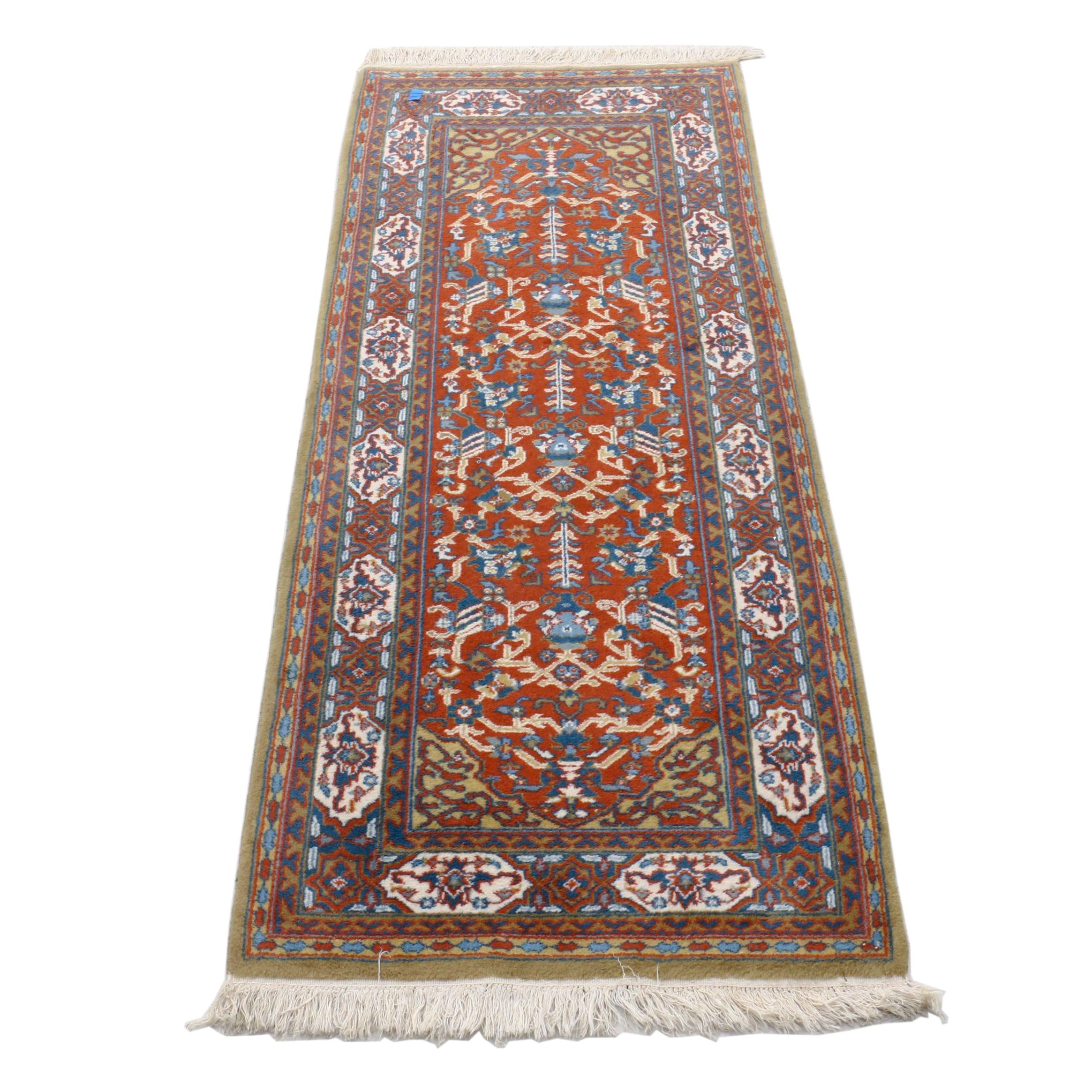 Hand-Knotted Indian Agrippa Wool Floral Rug