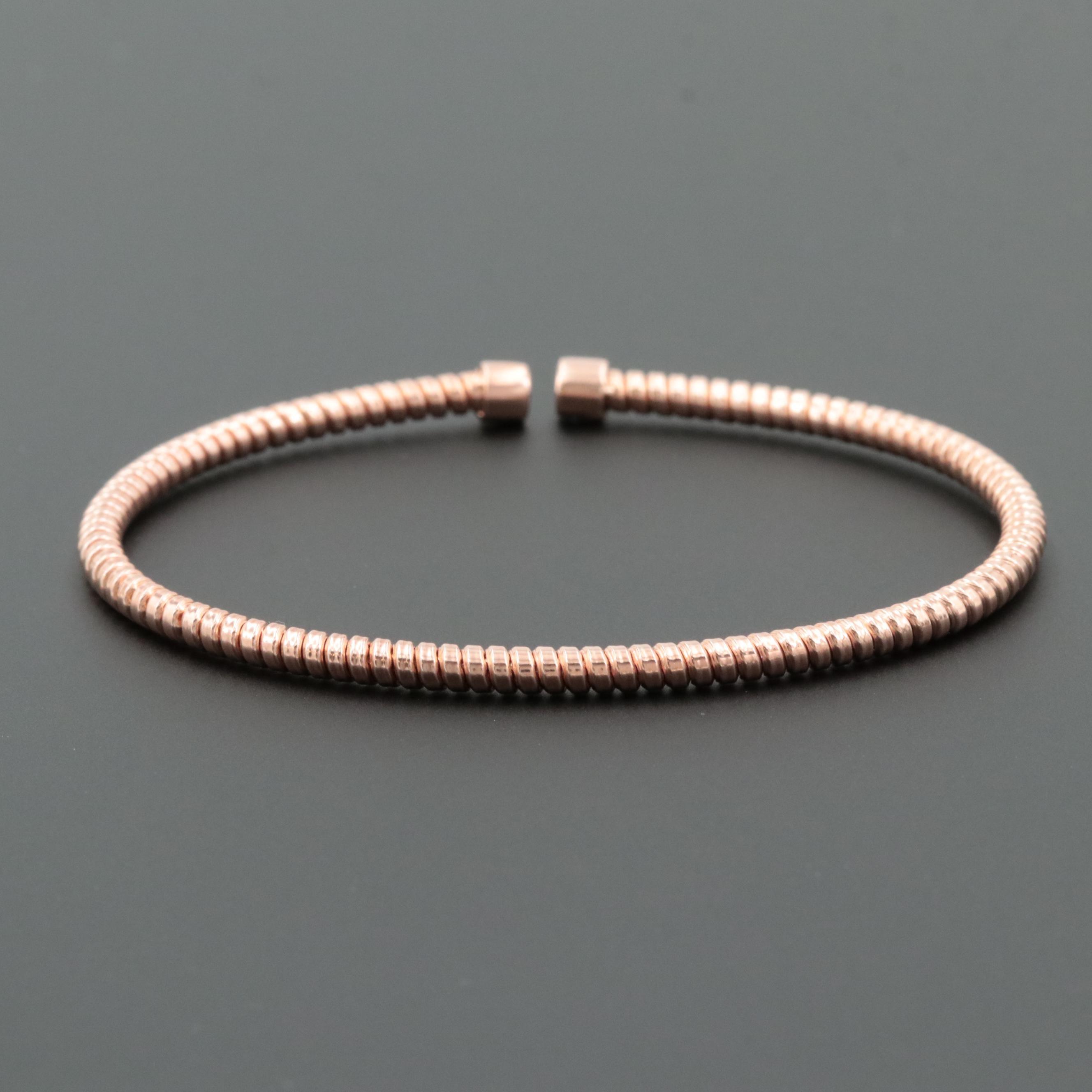 Rose Gold on Sterling Silver Cuff Bracelet