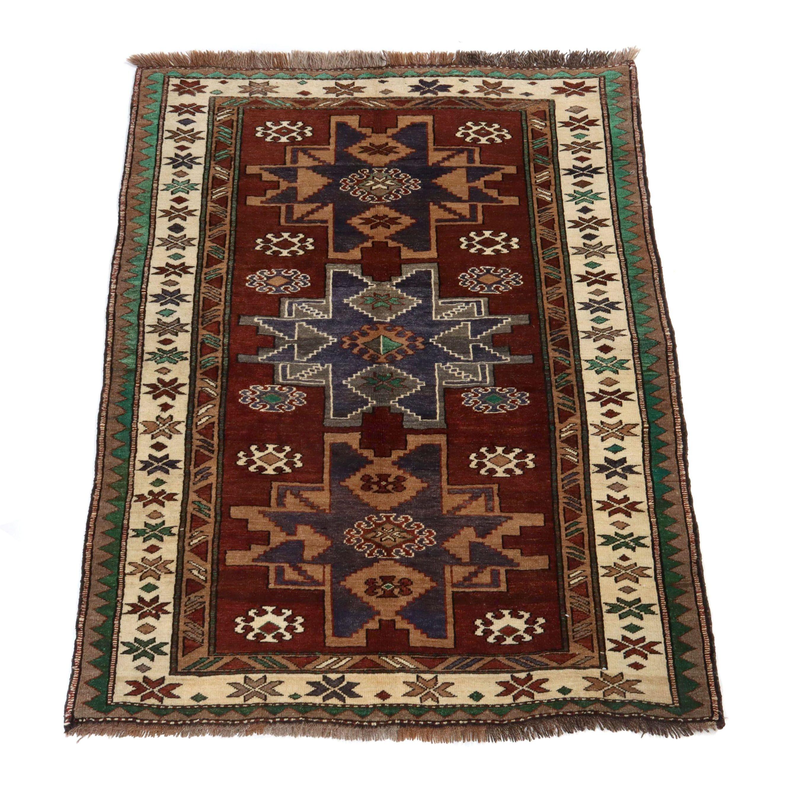 5' x 6.5' Hand-Knotted Turkish Azari Village Rug