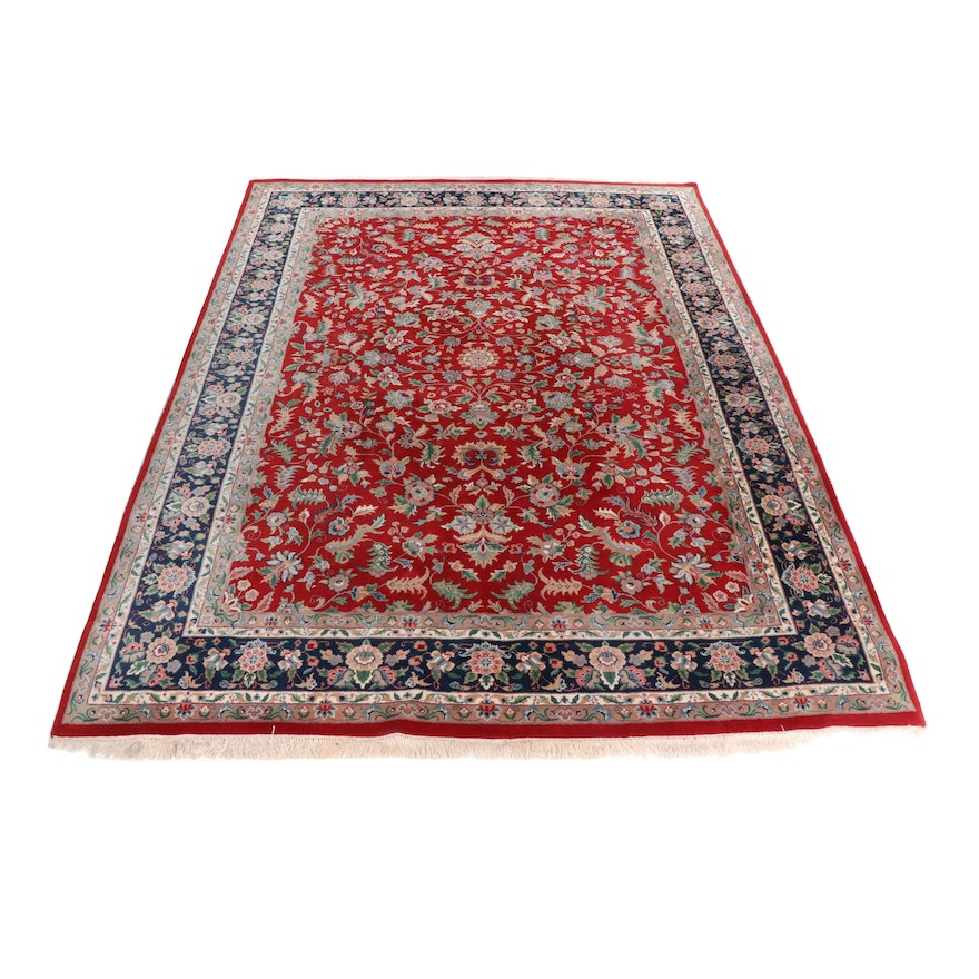 Hand-Knotted Persian Tabriz Style Rug