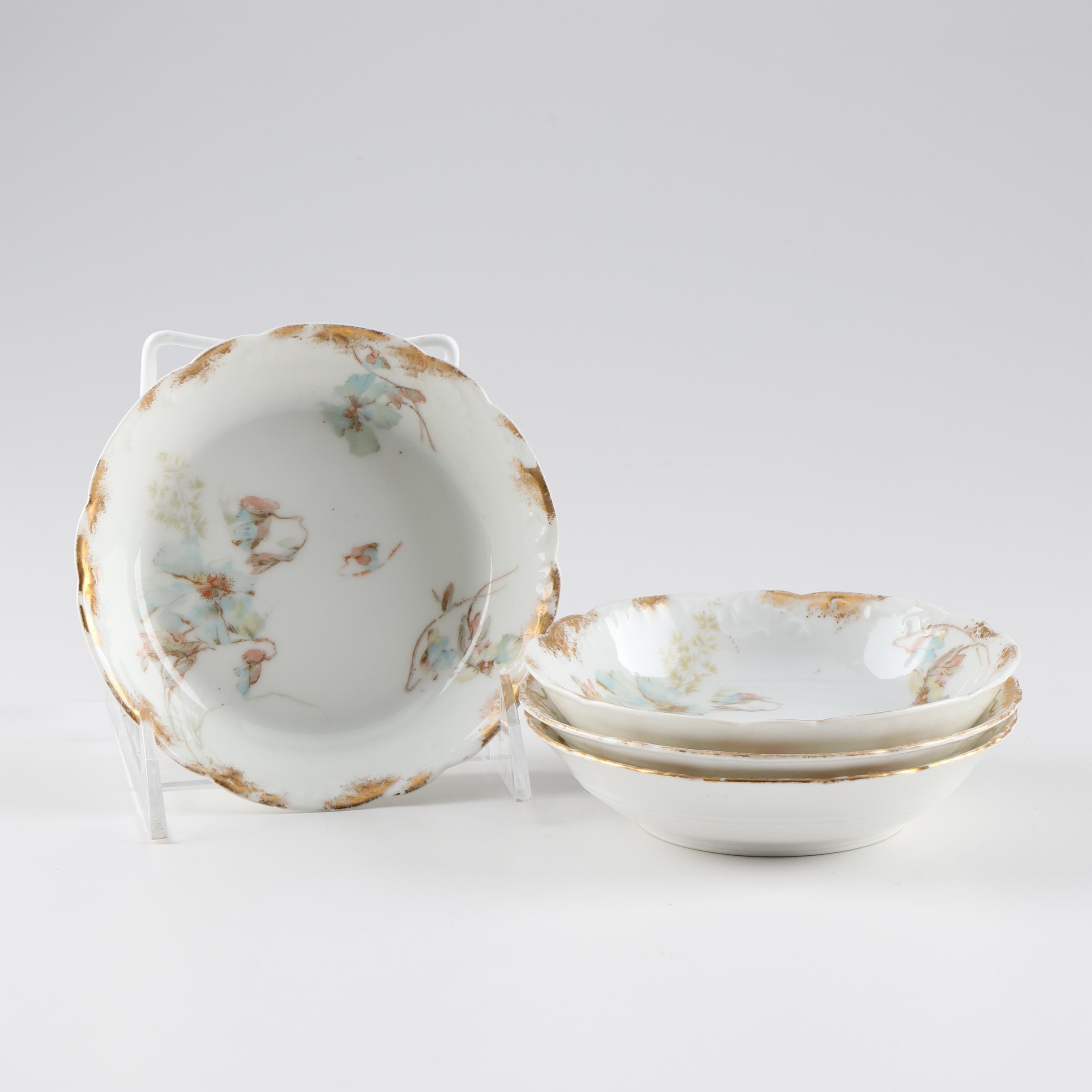 Haviland & Co. Hand-Painted Porcelain Dessert Bowls