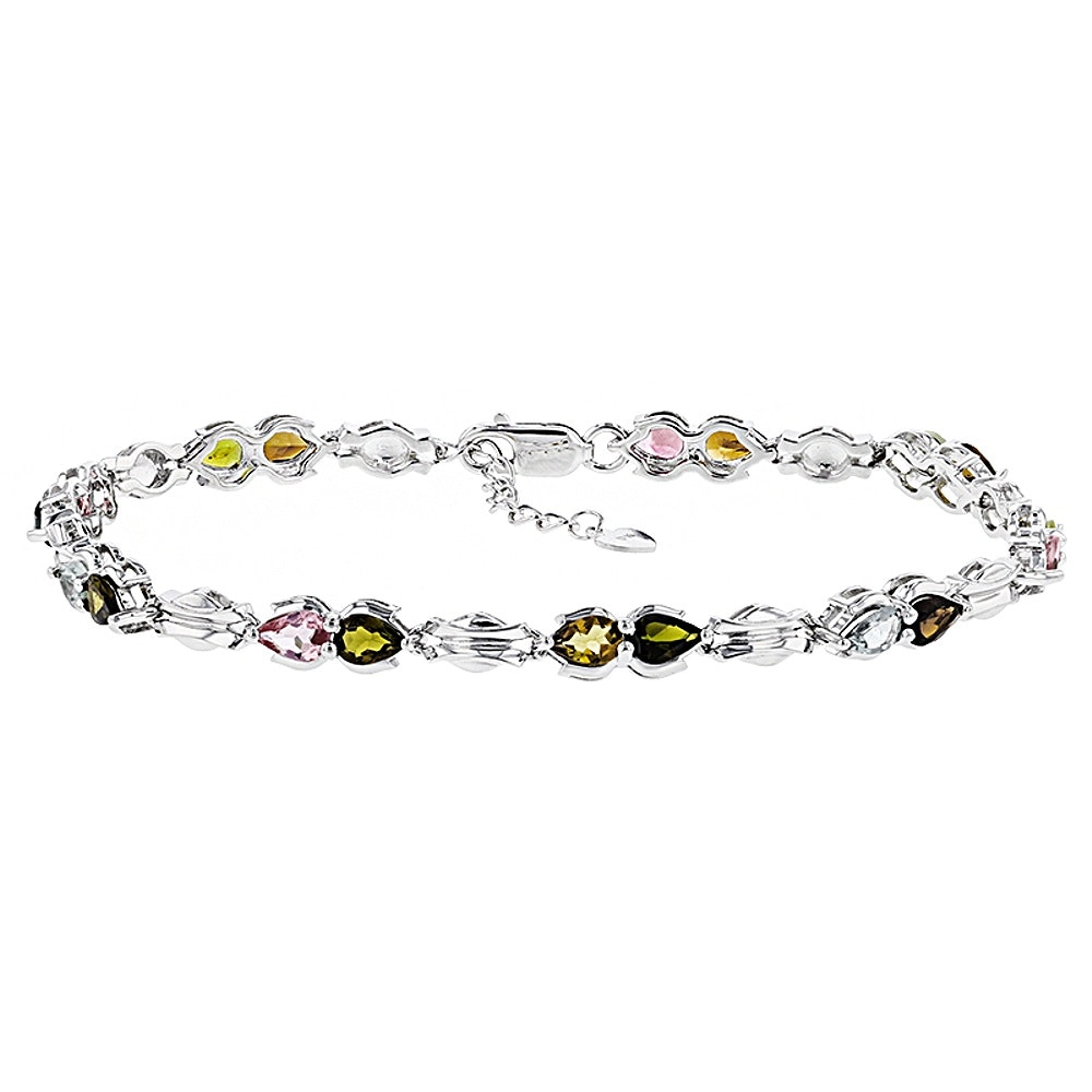 Sterling Silver Tourmaline Bracelet