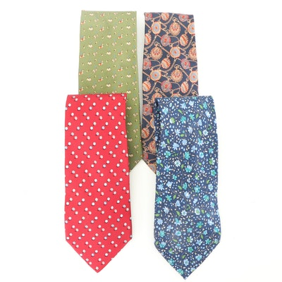 37abb5512063 Salvatore Ferragamo Silk Patterned Neckties. Pickup Available EBTH Dallas