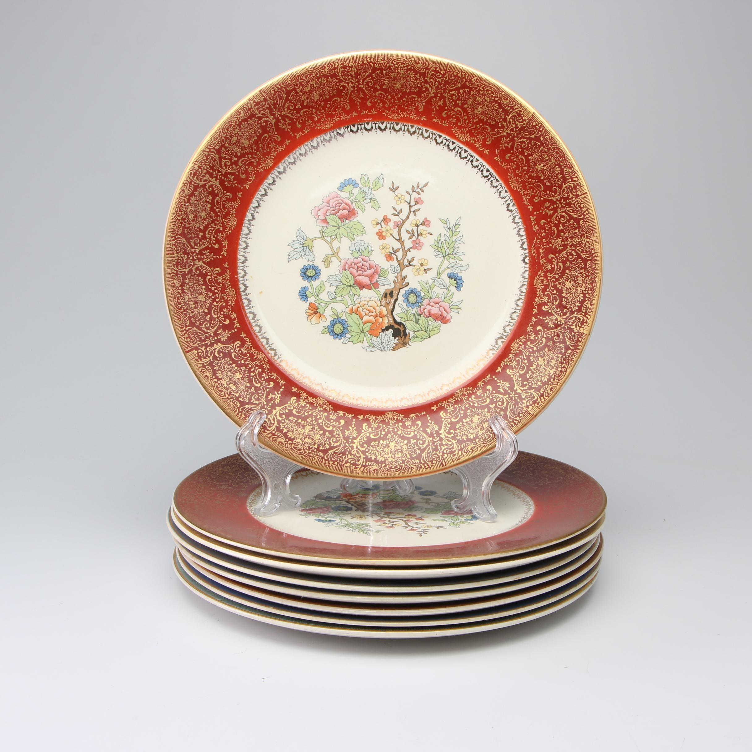 "Salem ""Century"" Porcelain Dinner Plates, Mid-Century"