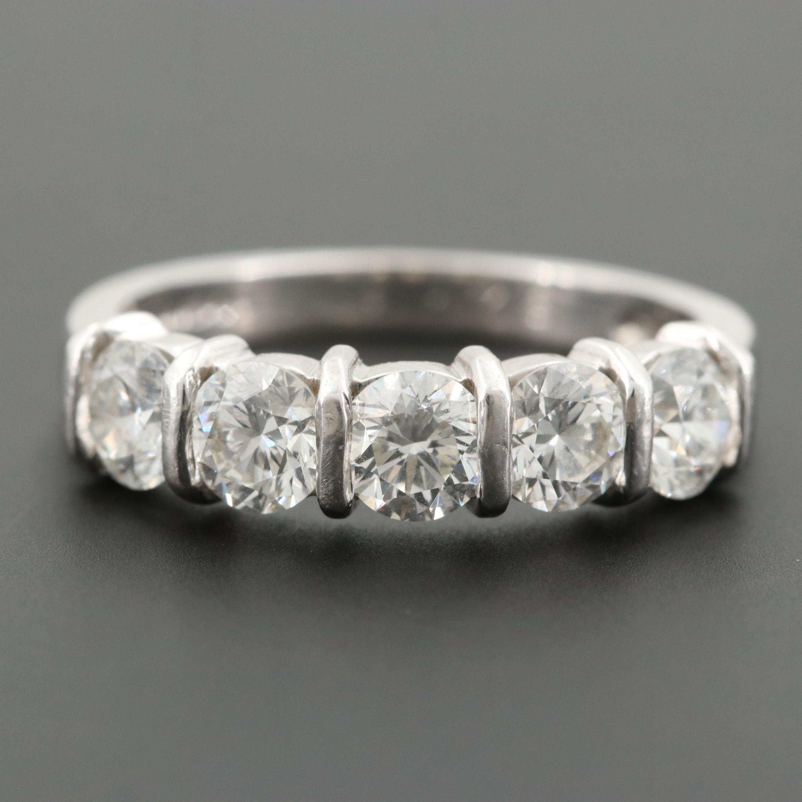 Vintage Platinum 1.65 CTW Diamond Ring