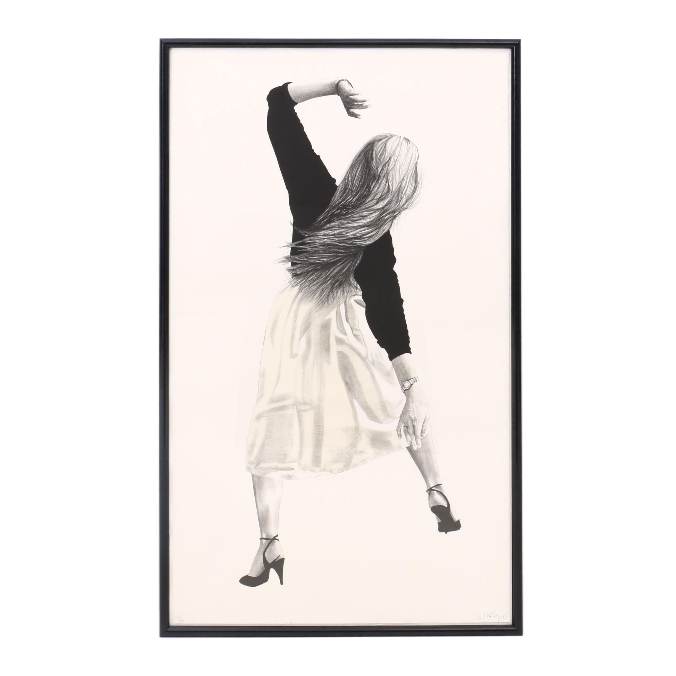 """Robert Longo Lithograph """"Anne from Men in the Cities"""""""