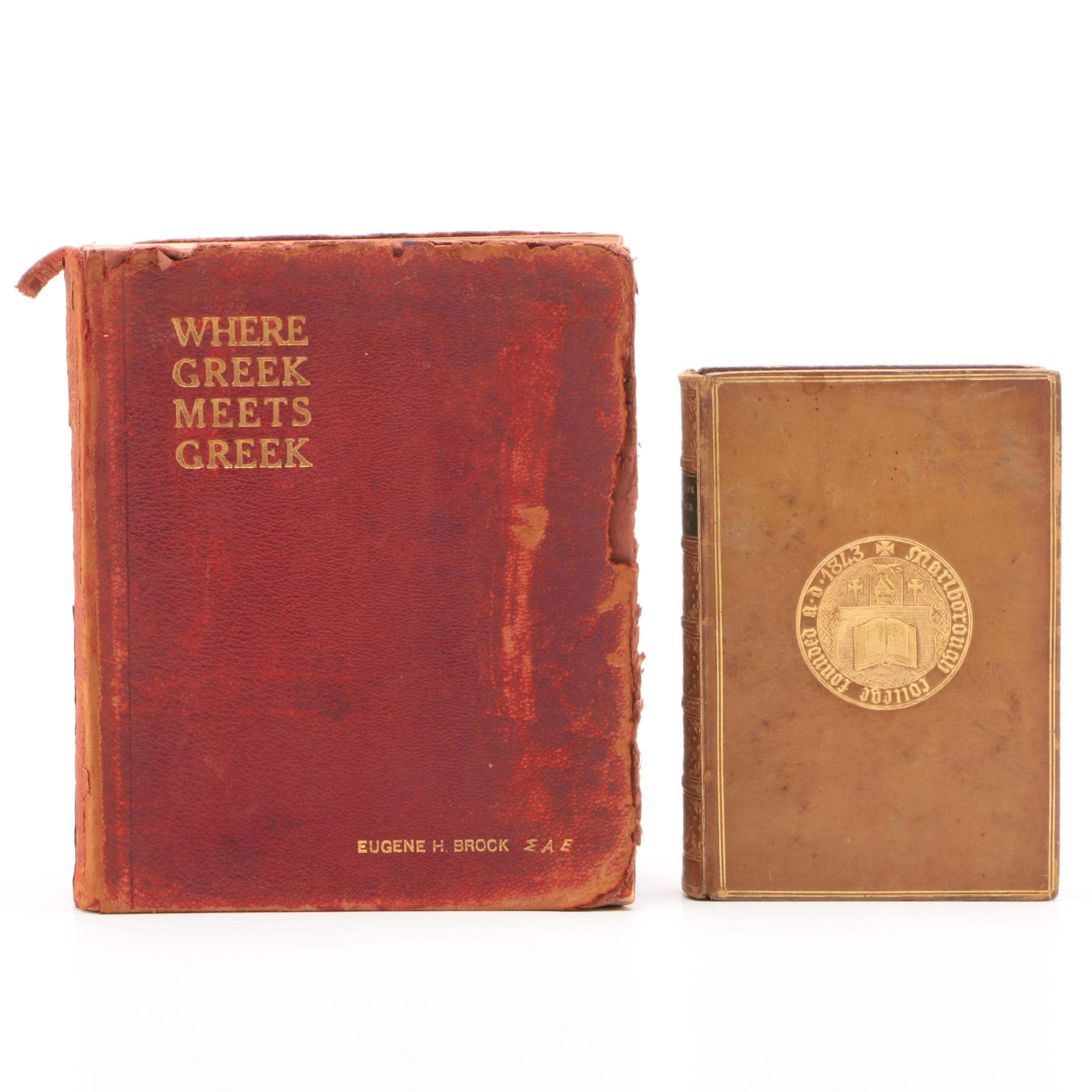 "Books on Greece featuring ""Social Life in Greece"" by Rev. J. P. Mahaffy, 1879"