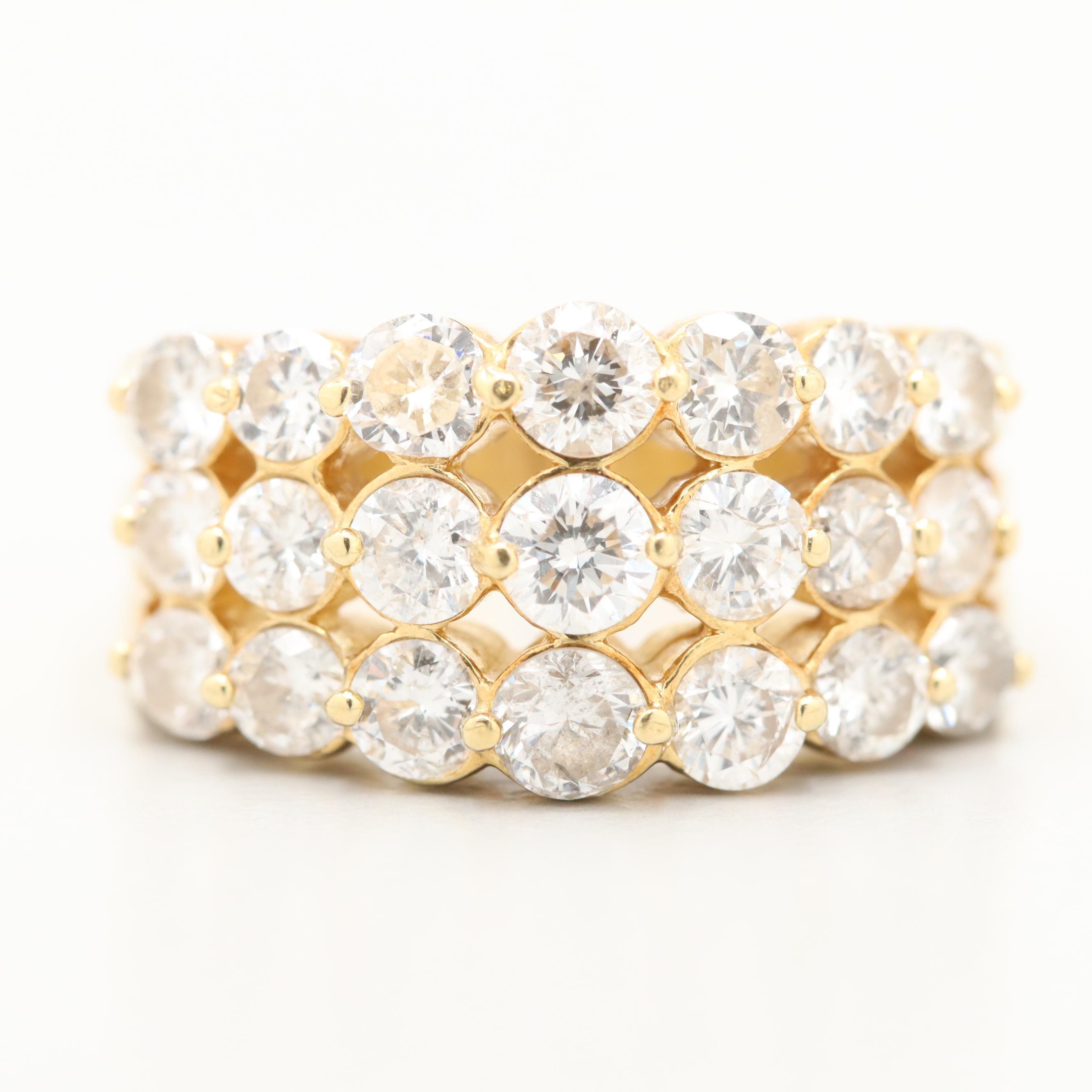 18K Yellow Gold 2.35 CTW Diamond Ring