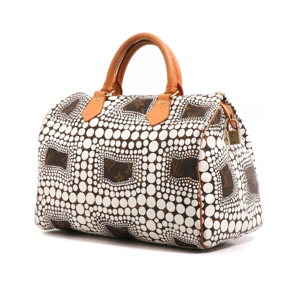 Louis Vuitton Limited Edition Yayoi Kusama Town Speedy 30 Satchel
